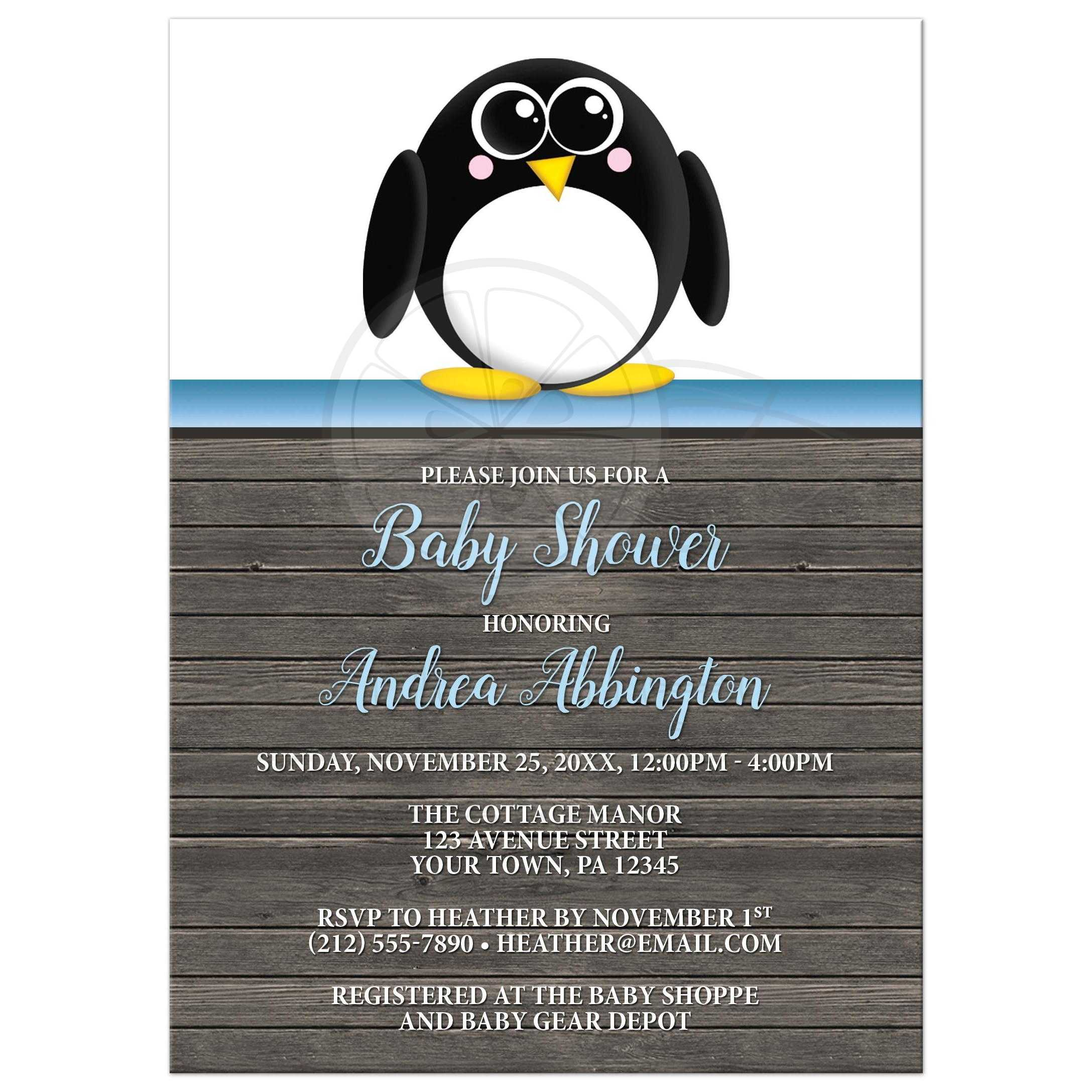 Penguin Baby Shower Invitations – gangcraft