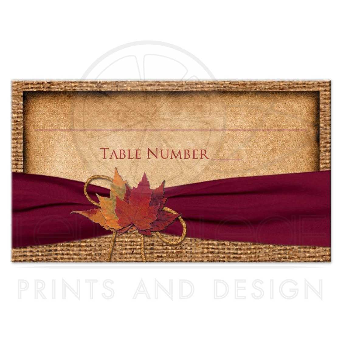 Affordable wedding place cards or escort cards