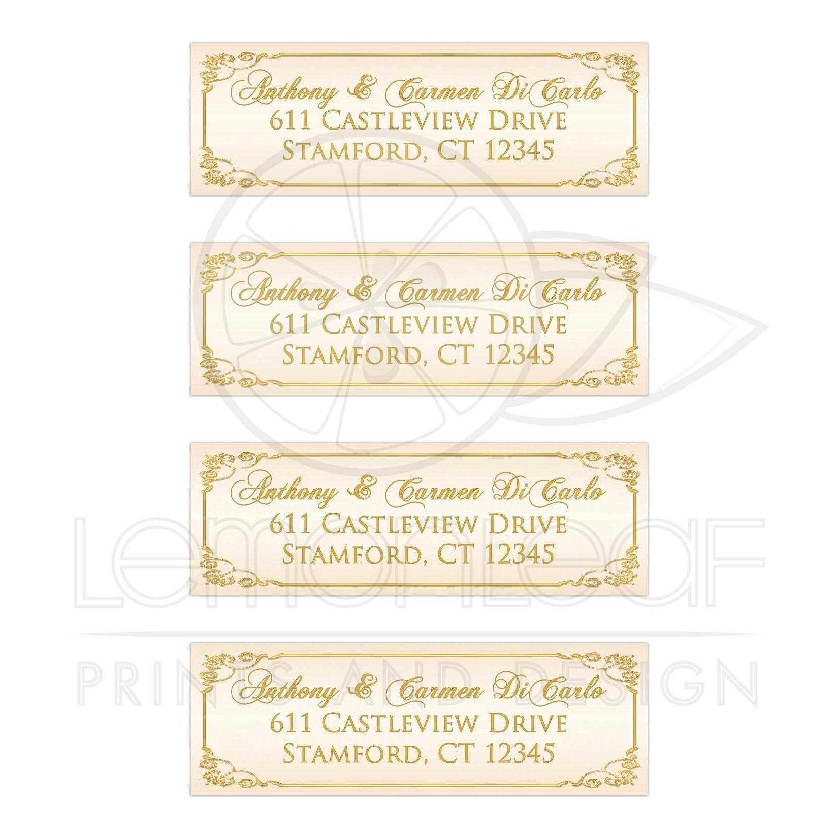 This is a photo of Geeky Ivory Colored Mailing Labels