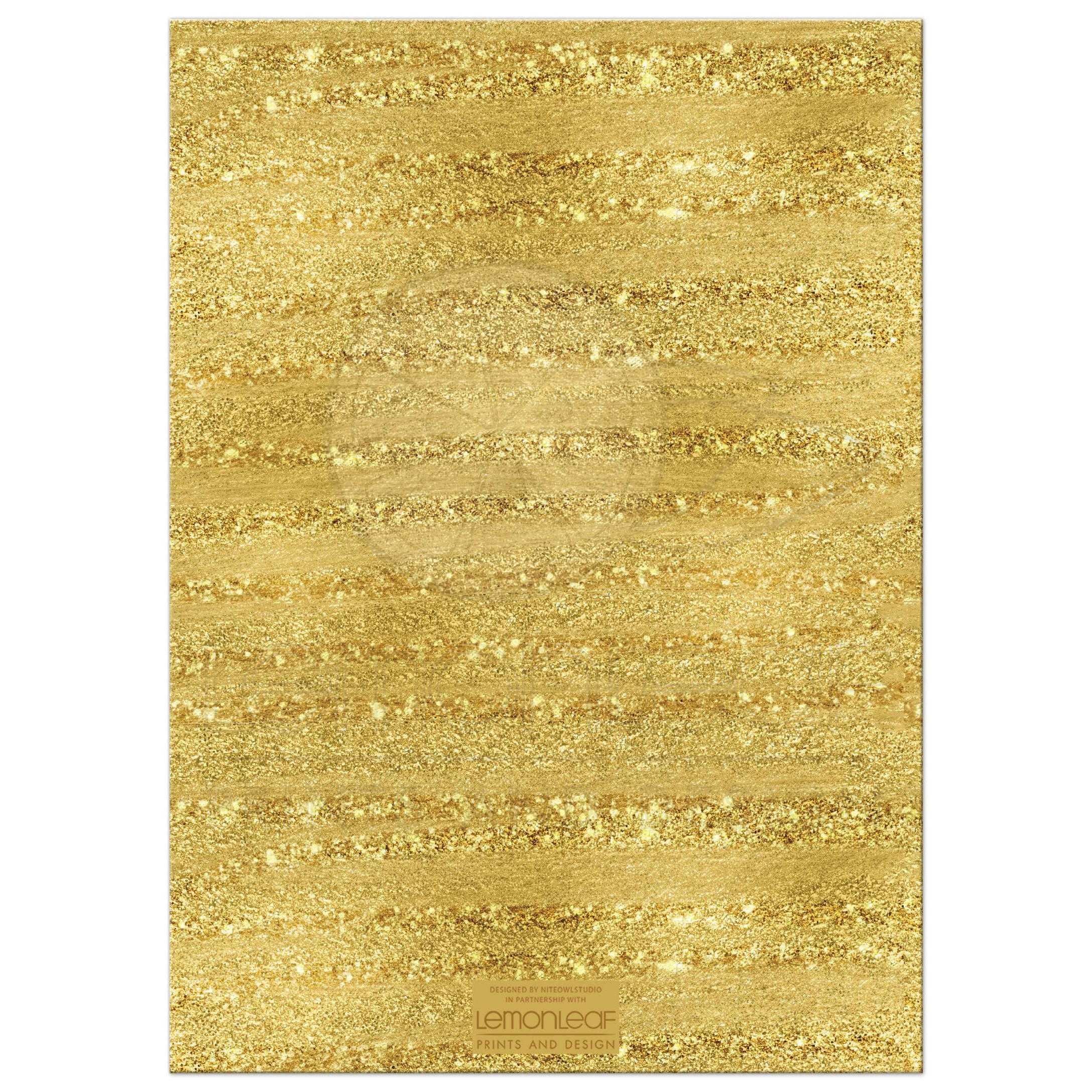 Golden Anniversary Invitation Black Faux Gold Foil