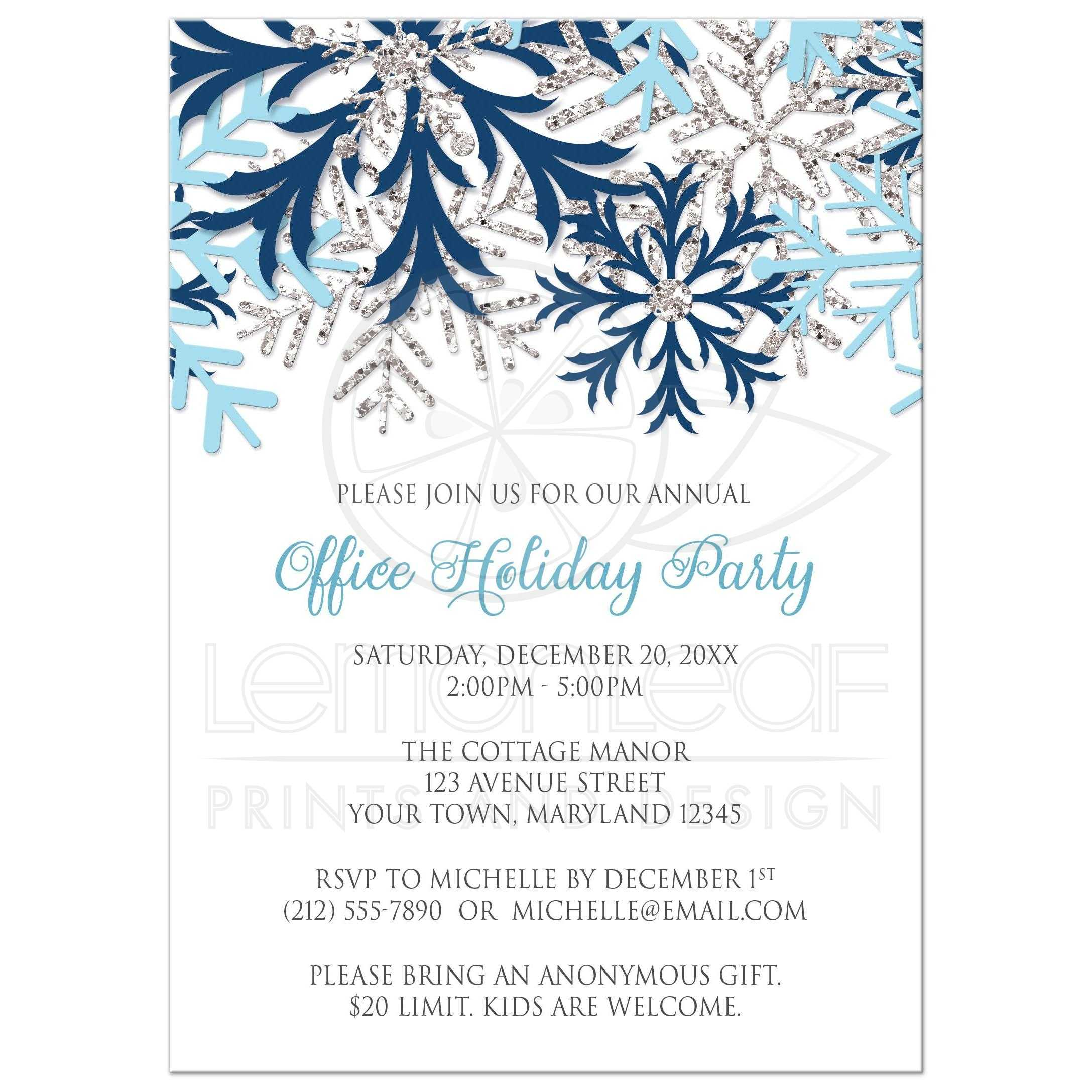 email christmas party invitation