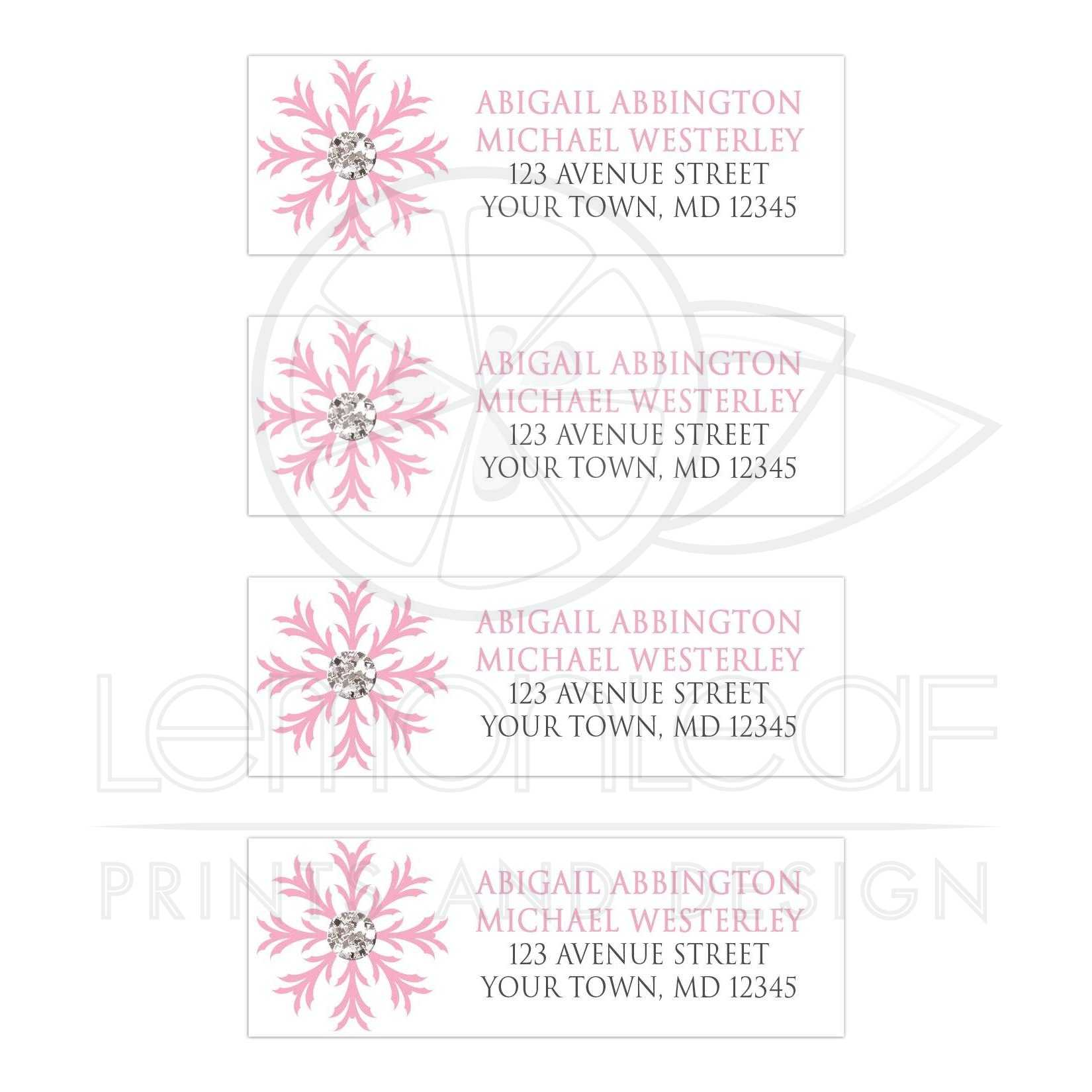 snowflake address label