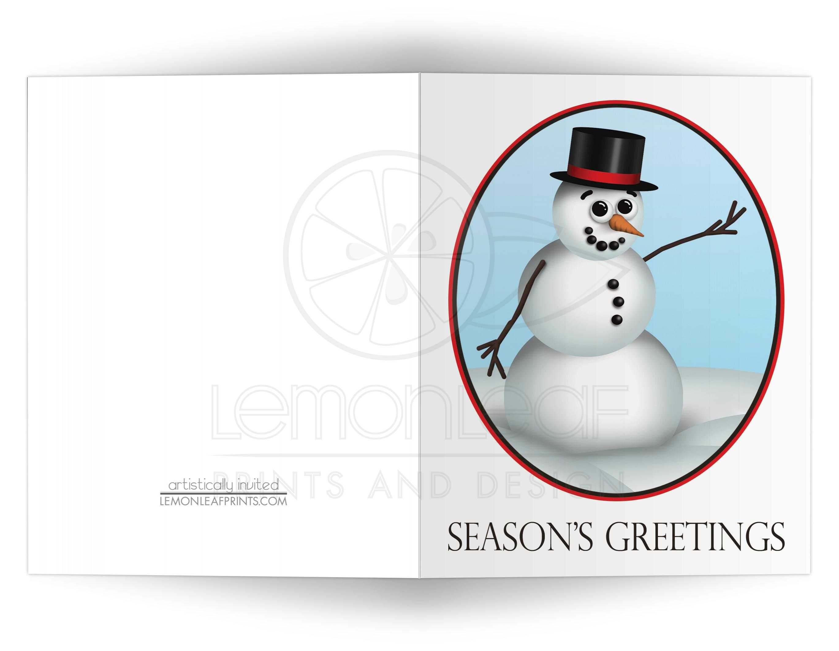 Christmas cards cute and classy snowman seasons greetings m4hsunfo