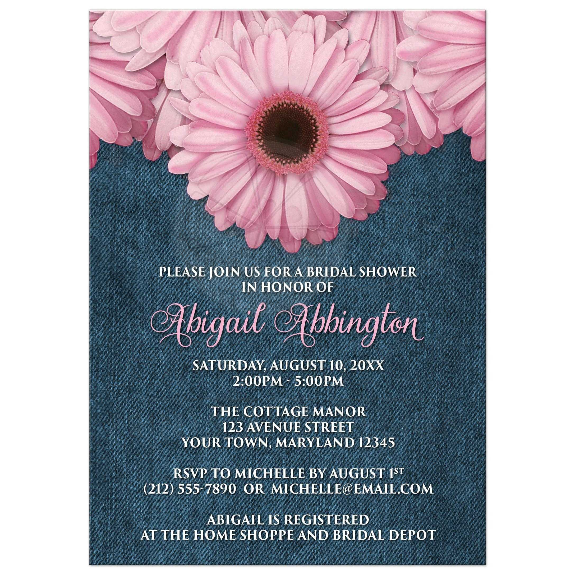 Rustic Daisy Wedding Invitations: Bridal Shower Invitations
