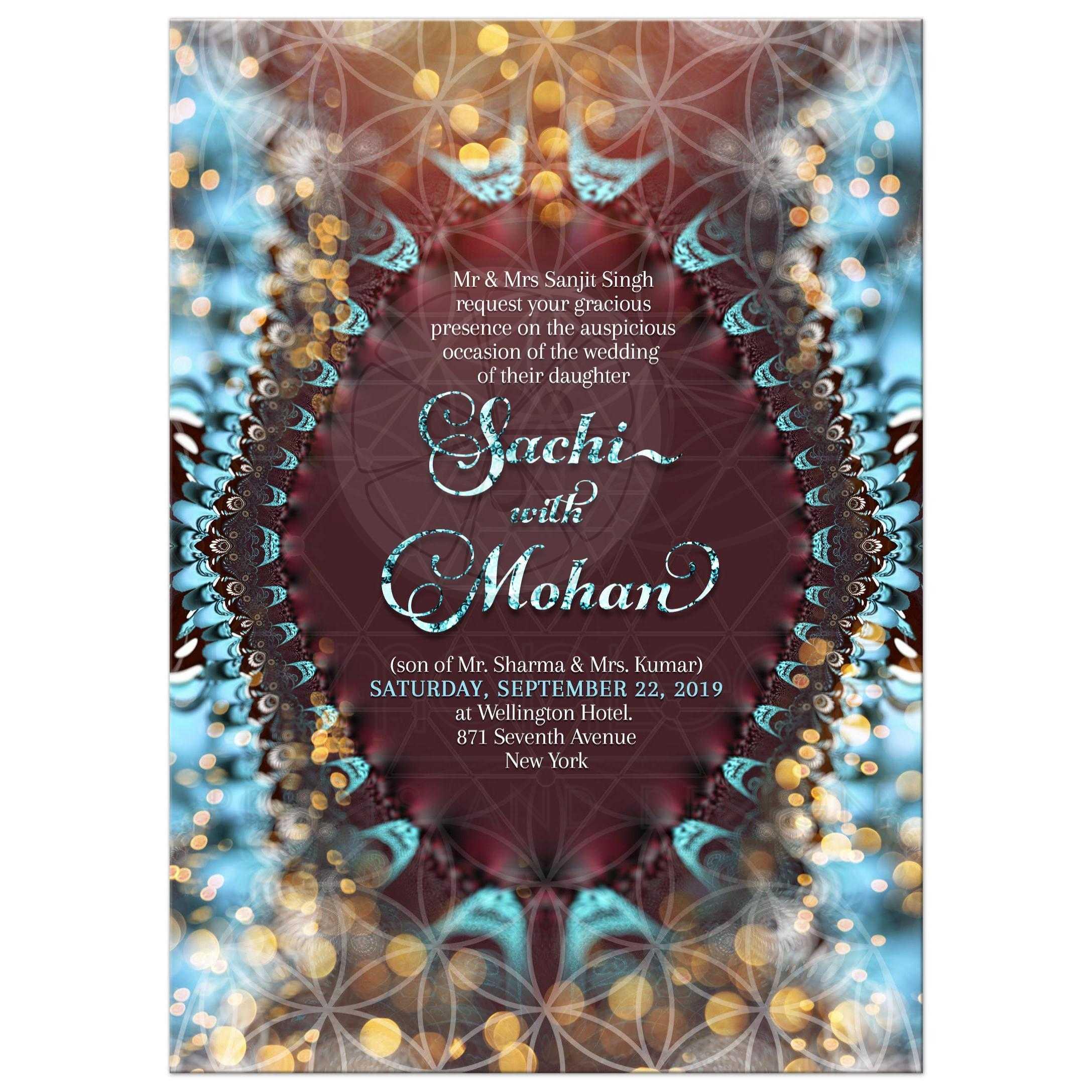 Eastern Wedding Invitation | Flower of Life ૐ Sacred Geometry