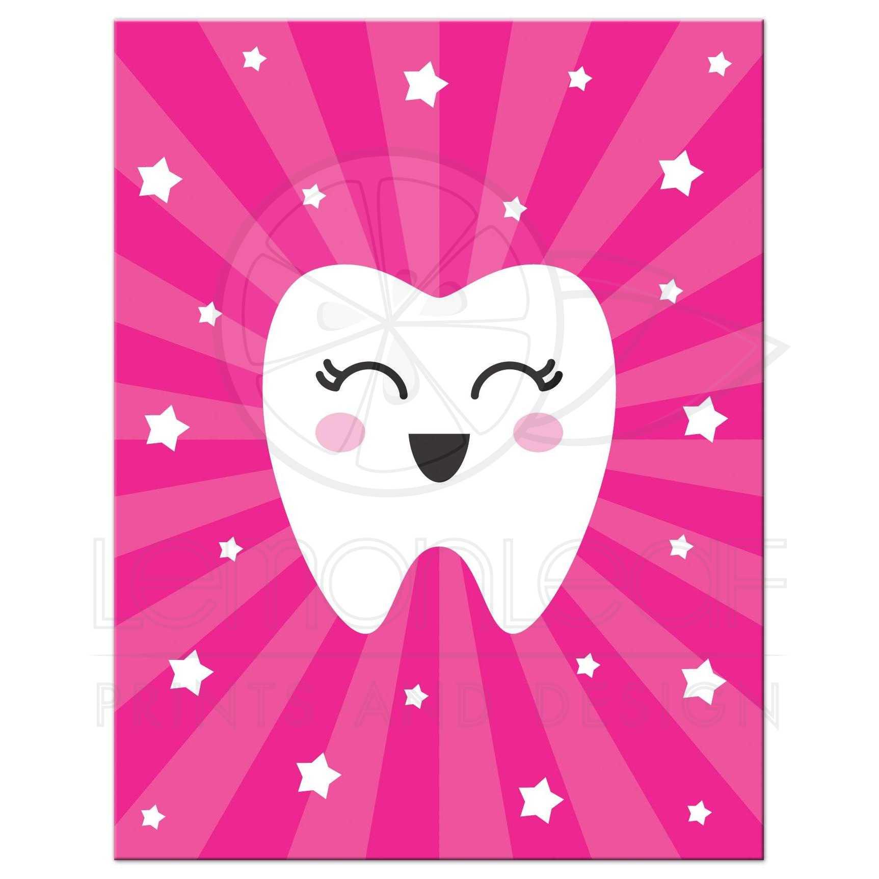 Kawaii Tooth Note Card