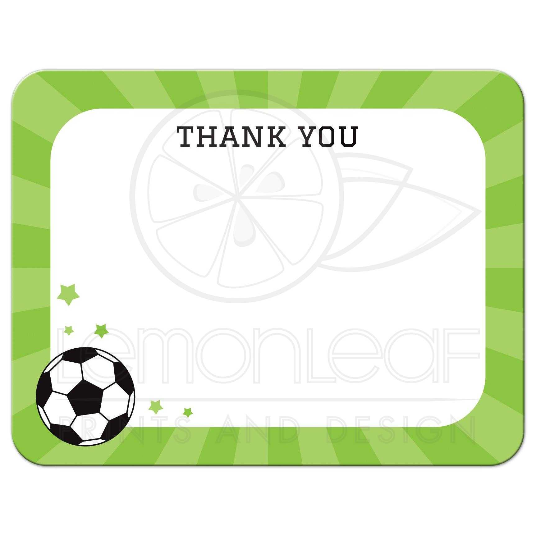 soccer thank you cards - Vaydile.euforic.co