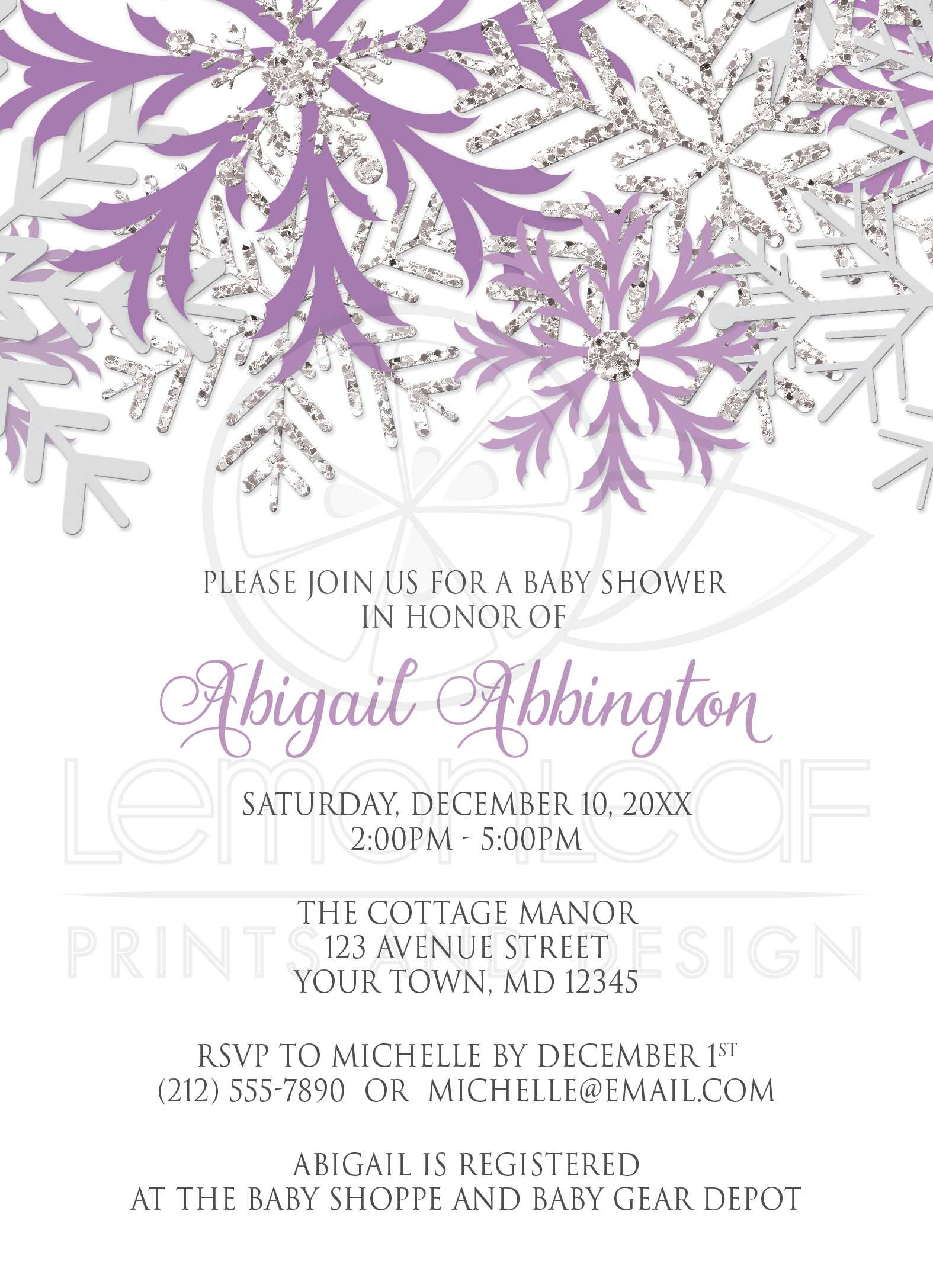 Lavender Baby Shower Invitations Lavender christmas and new year ...