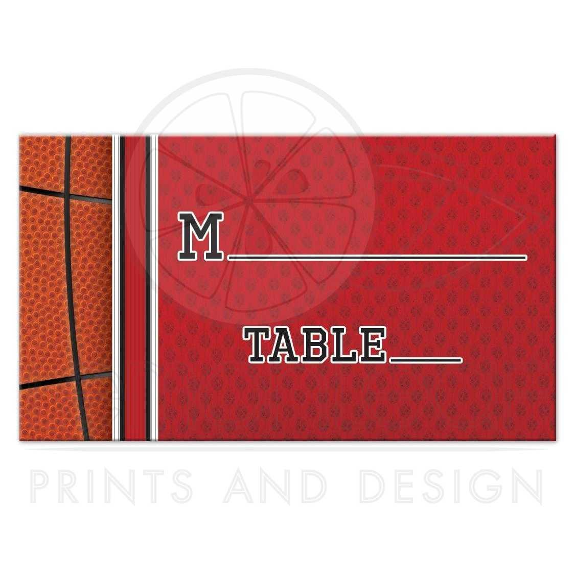Basketball escort cards