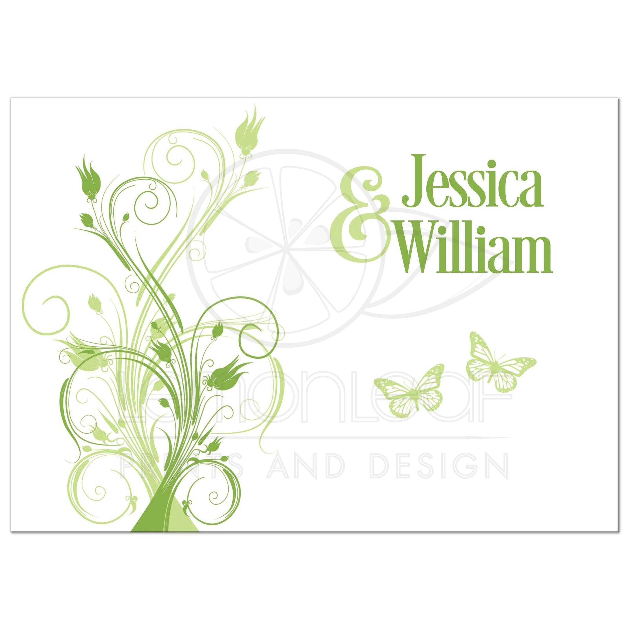 Greenery Wedding Invitation | Green, Celadon, White Floral Vines ...