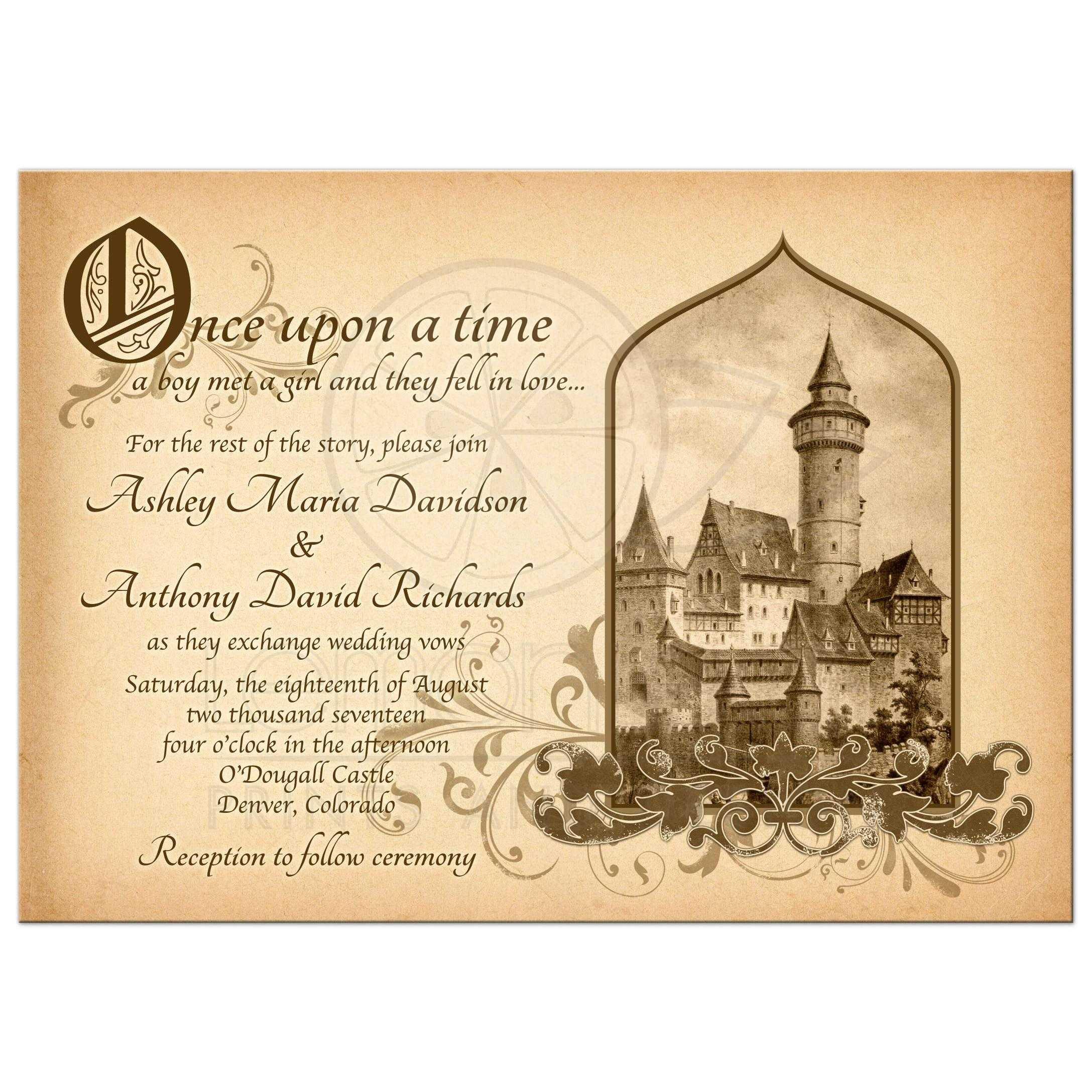 Fairytale Wedding Invitations Wedding Invitation Sample