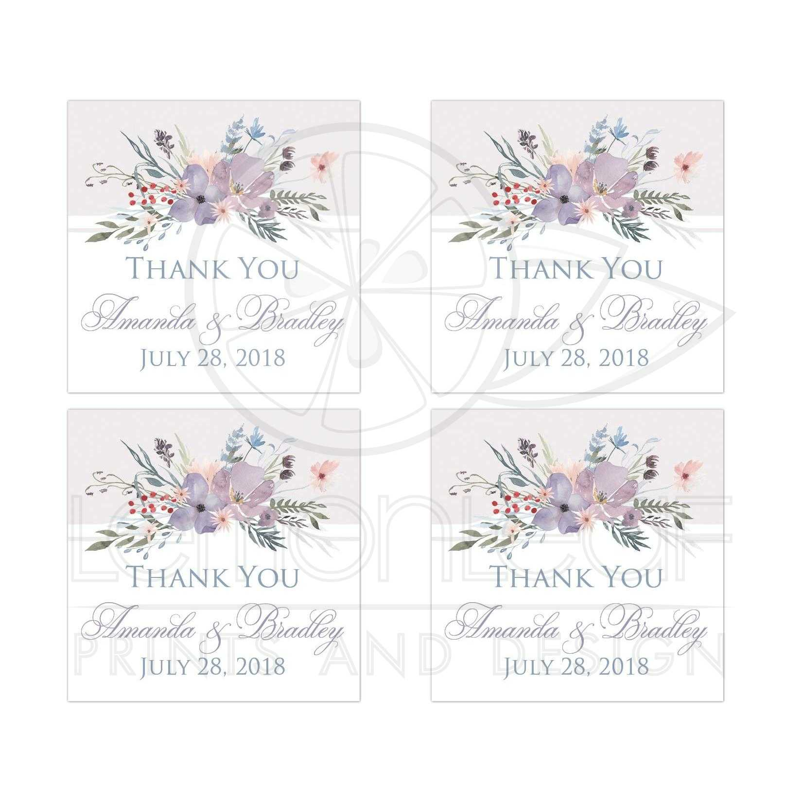 Bohemian Wildflowers Wedding Favor Sticker - 2\