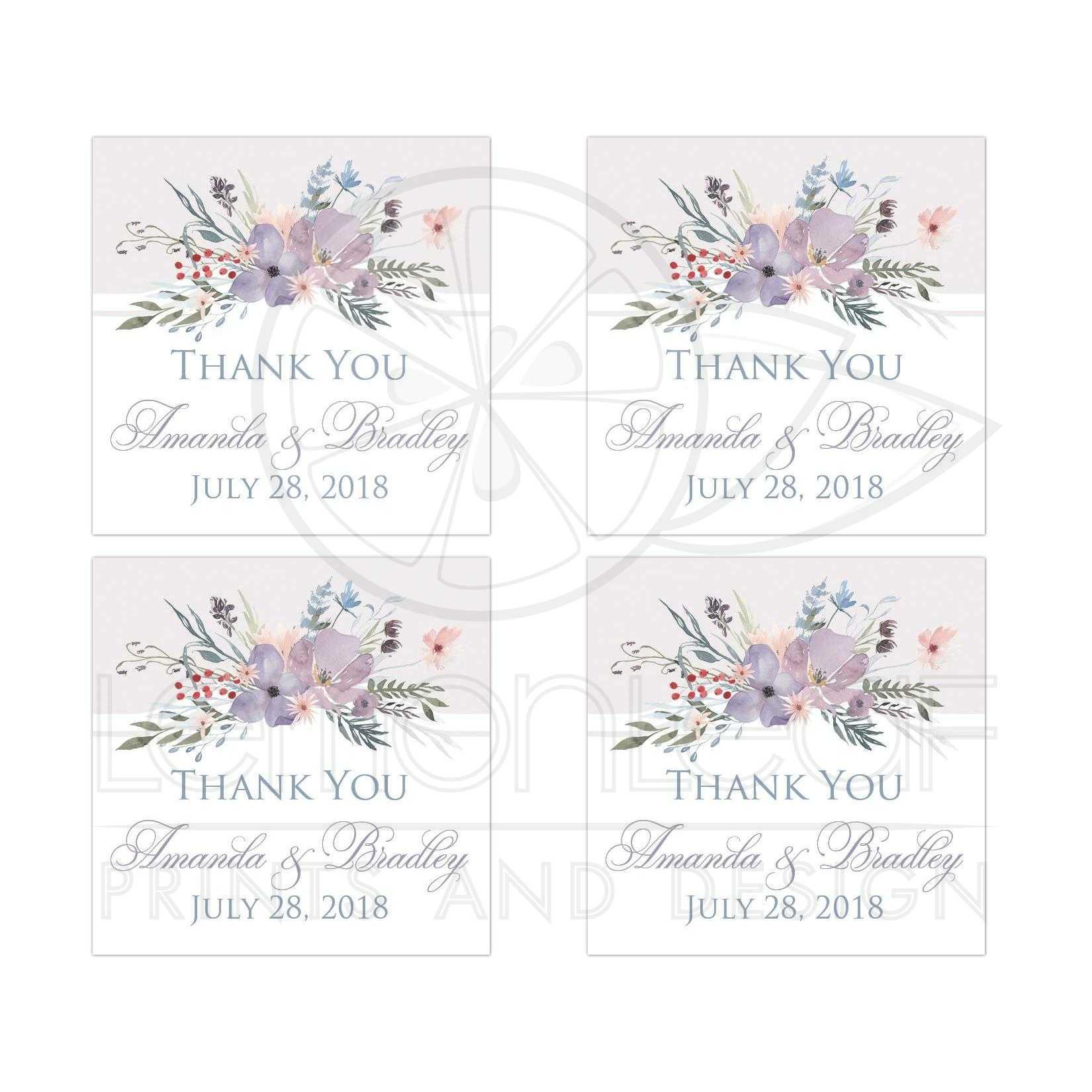 Bohemian Wildflowers Wedding Favor Sticker - 2\