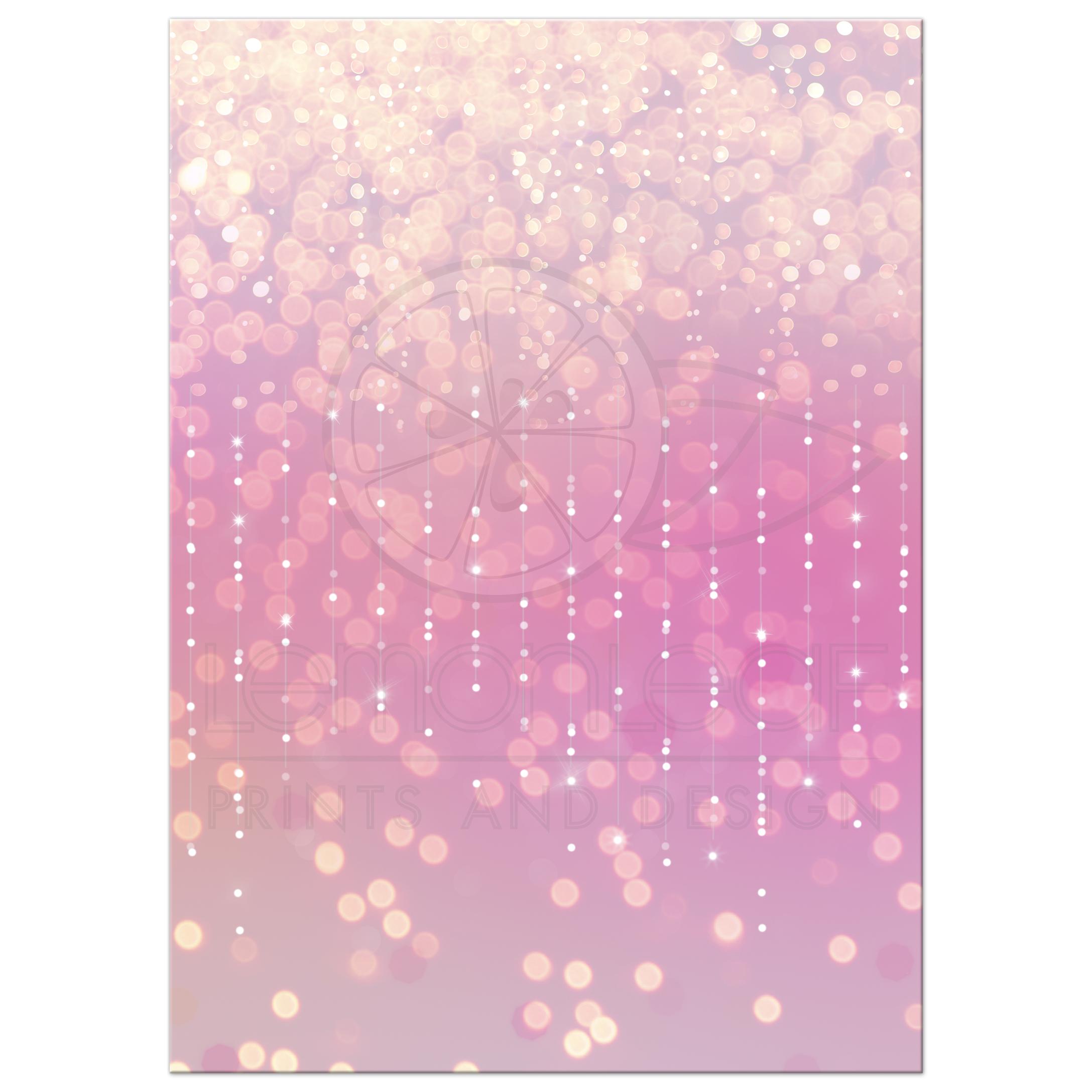 Bokeh Flowers Wedding: Pink And White Bat Mitzvah Invitation