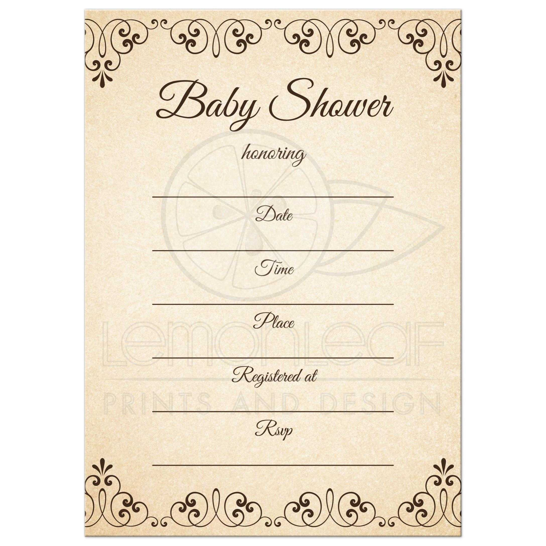Adoption baby shower invitations with tree and heart - fill in the ...