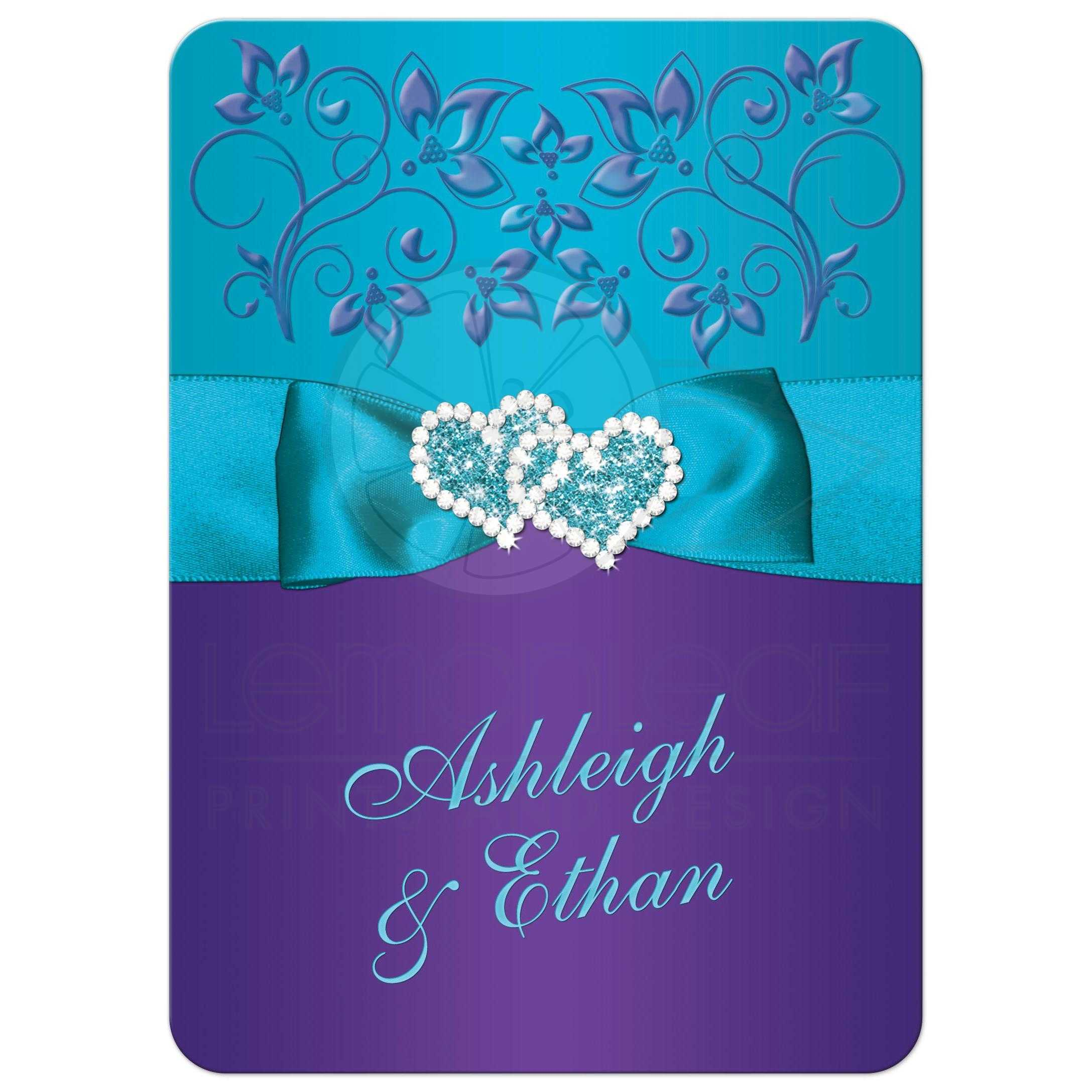 Best Ideas For Purple And Teal Wedding: Purple, Teal Blue Floral