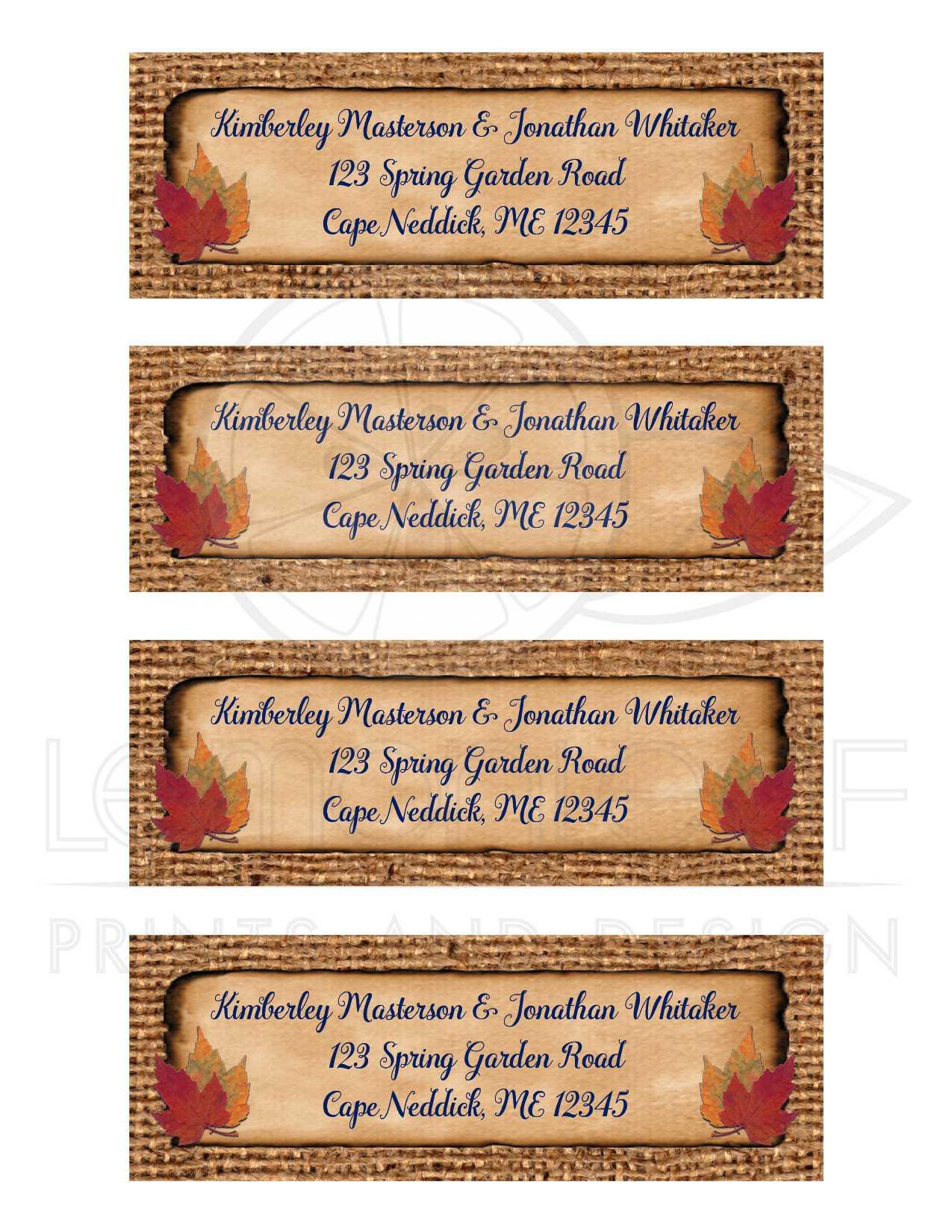 Personalized Brown Burlap Wedding Return Address Labels 2   Navy ...