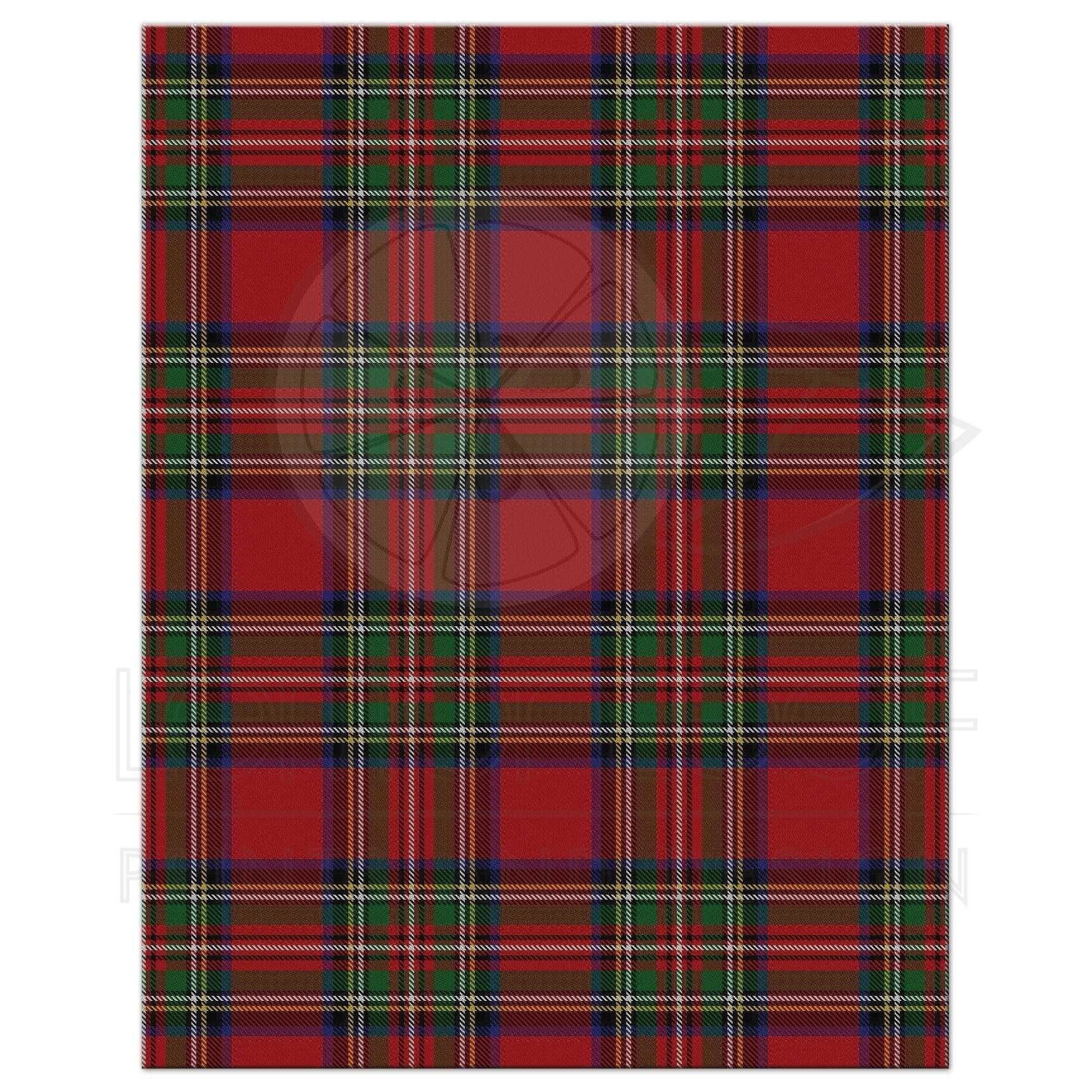 scottish royal stewart tartan wedding rsvp card celtic