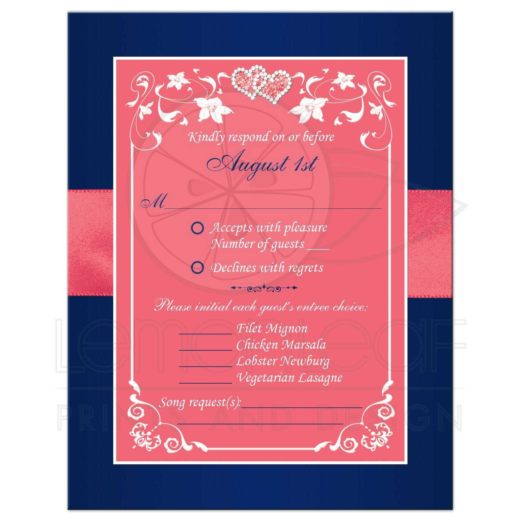 navy blue and coral pink floral and joined hearts  printed