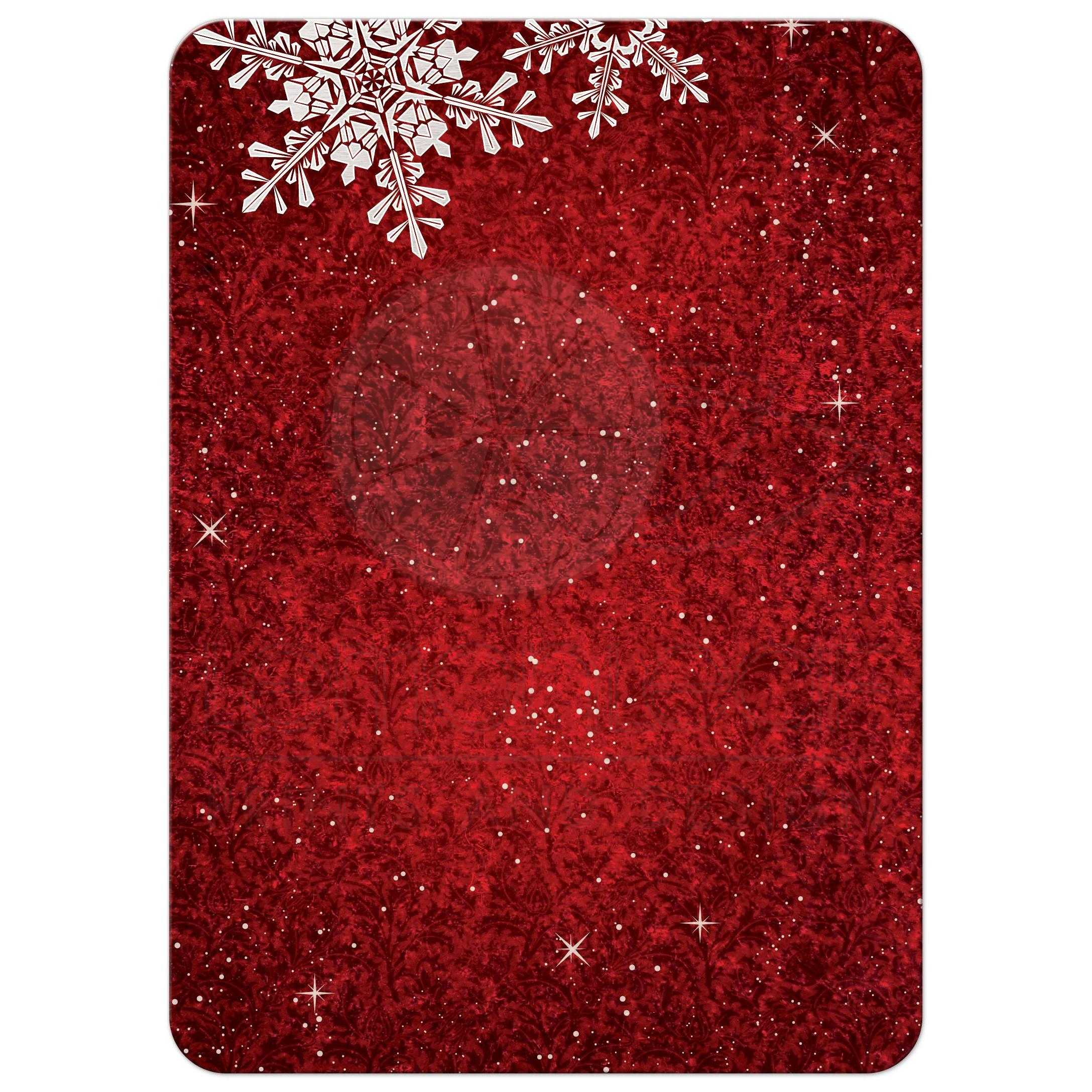 Red White Velvet Look Snowflake Winter Holiday Corporate Party ...