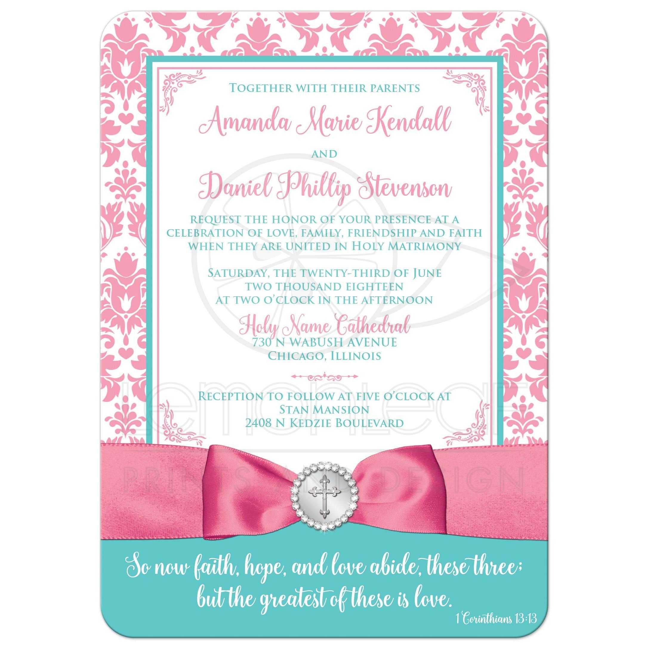 Christian Wedding Reception Ideas: Christian Wedding Invite - OPTIONAL Photo
