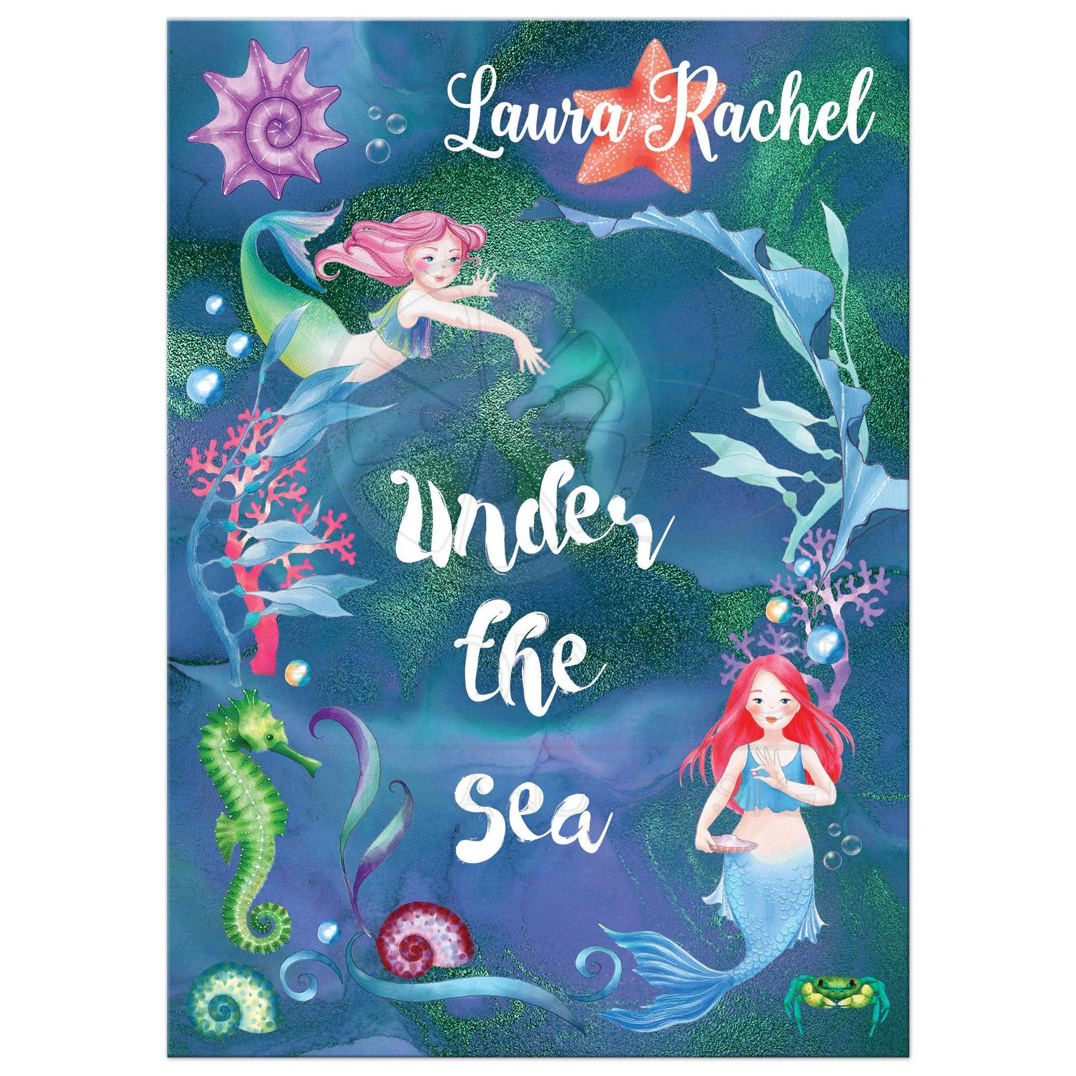 Under the Sea Mermaids Bat Mitzvah Invitation
