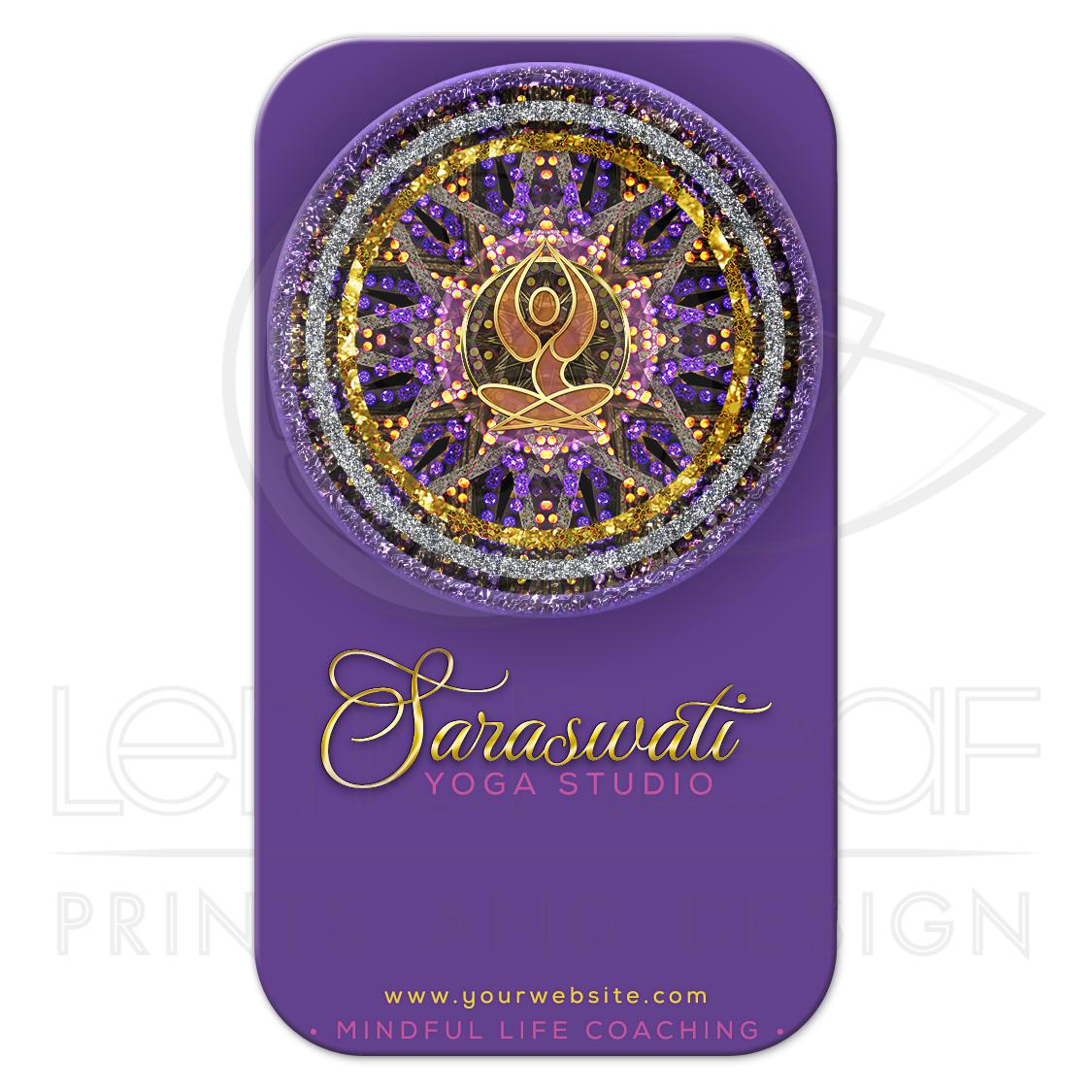 Mandala Yoga Goddess Purple Business Card