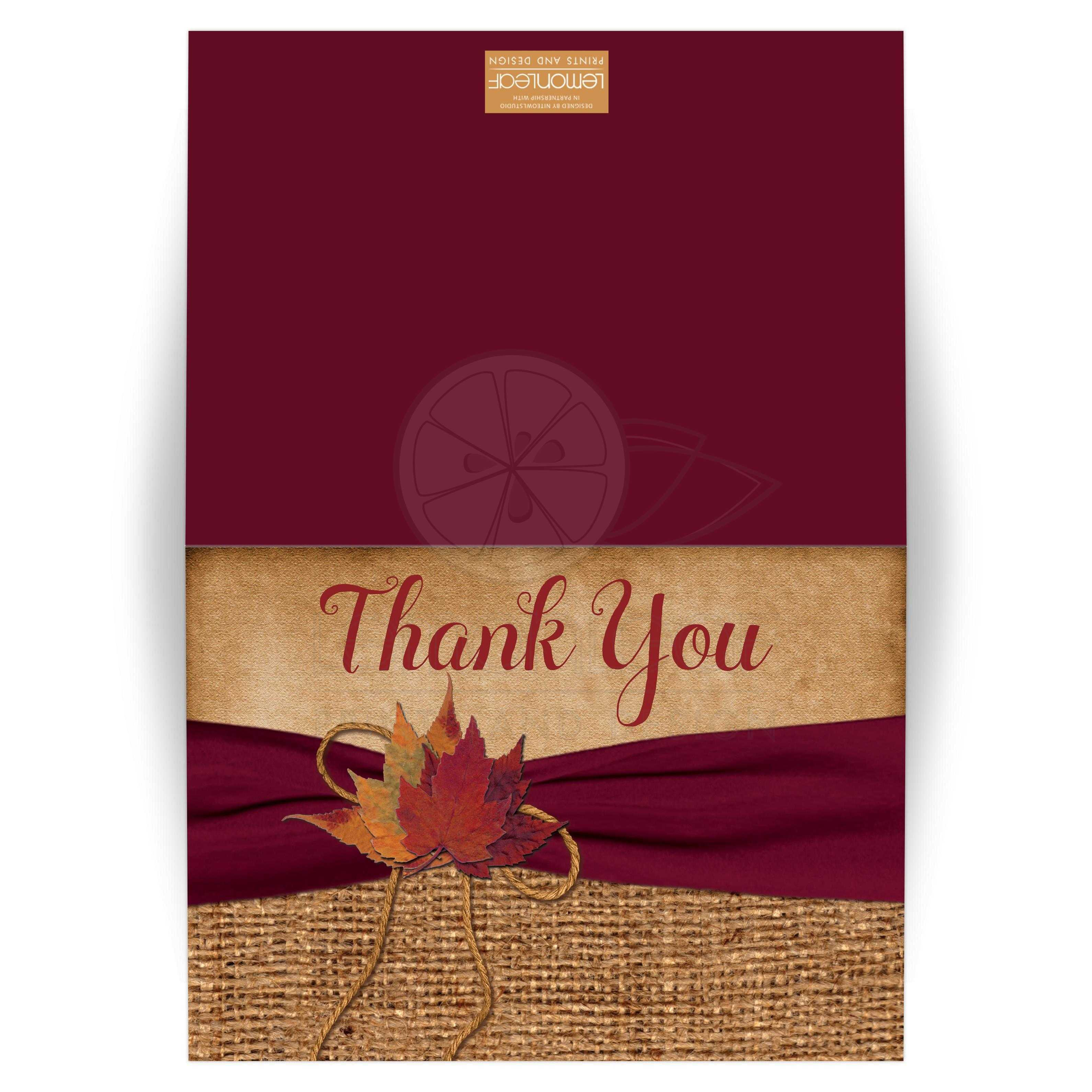 Rustic Country Photo Optional Wedding Thank You Card Printed On