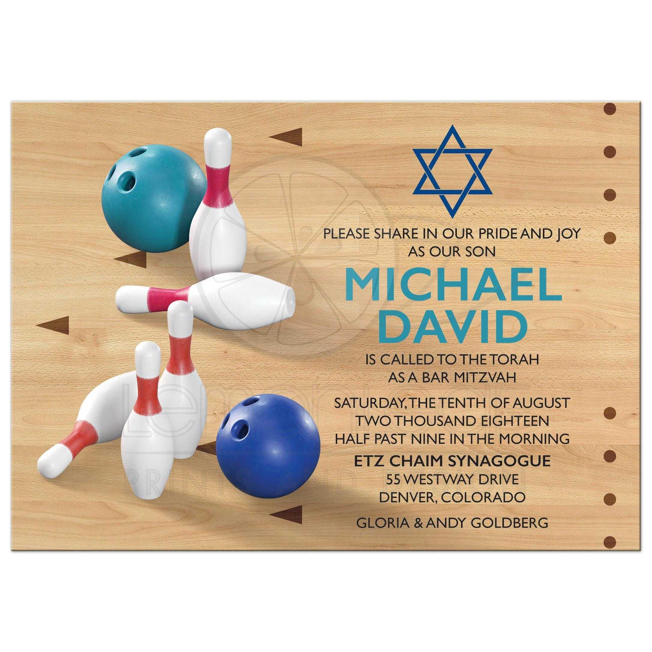 Bowling bar mitzvah invitation bowling ball pins alley bowling pins bowling ball bowling alley bowling bar mitzvah invitation stopboris Gallery
