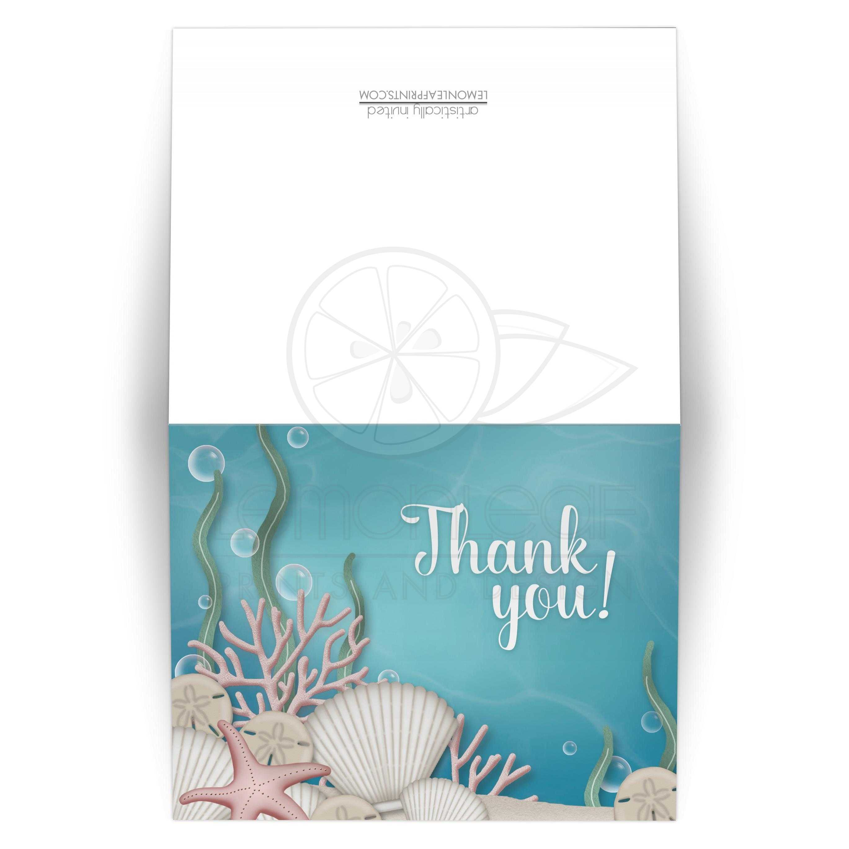 Thank You Cards Whimsical Under The Sea