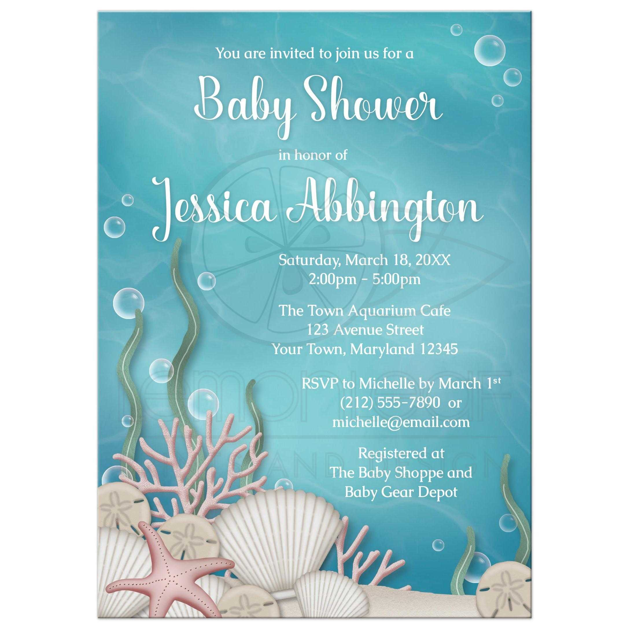 Baby shower invitations whimsical under the sea filmwisefo
