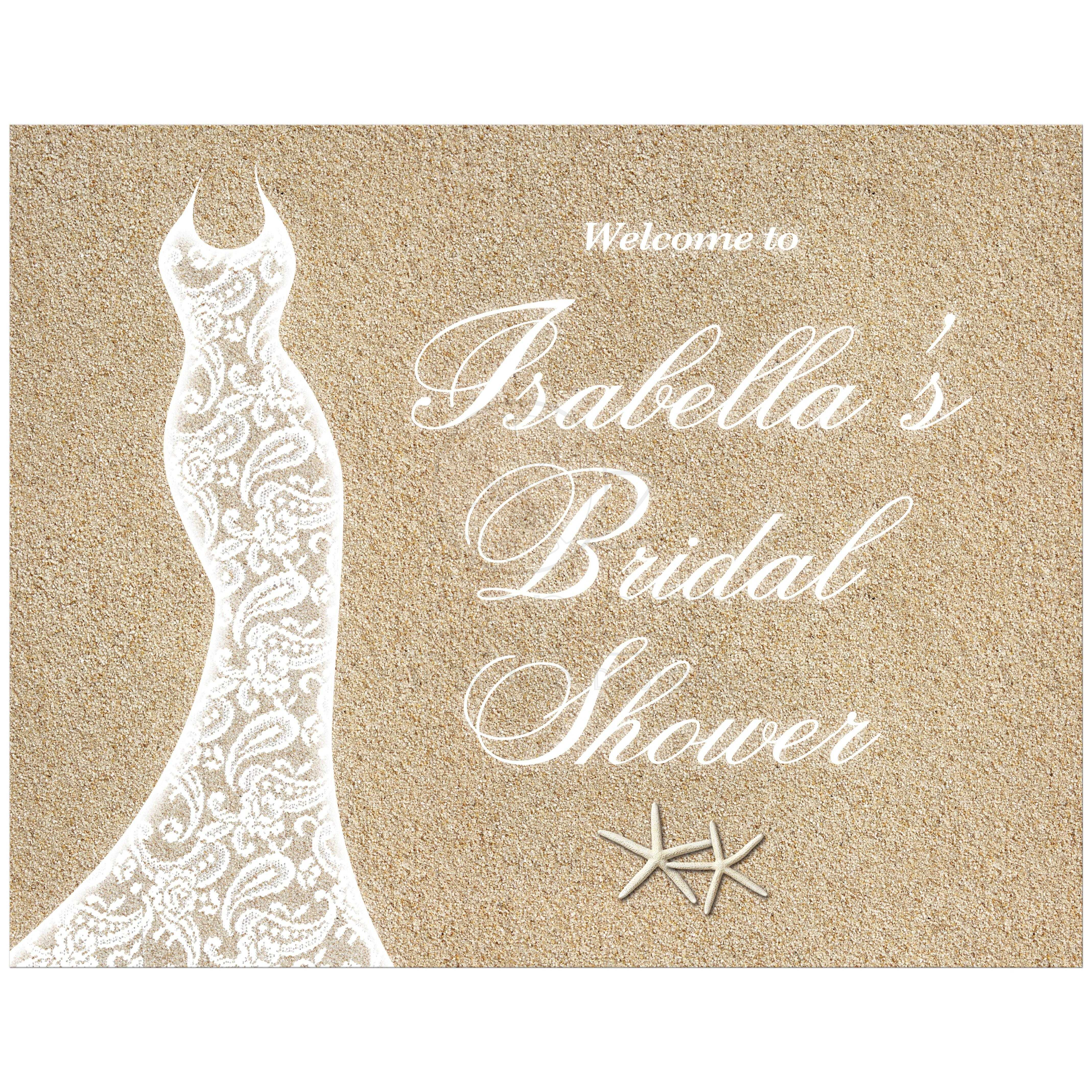 beach bridal shower welcome poster