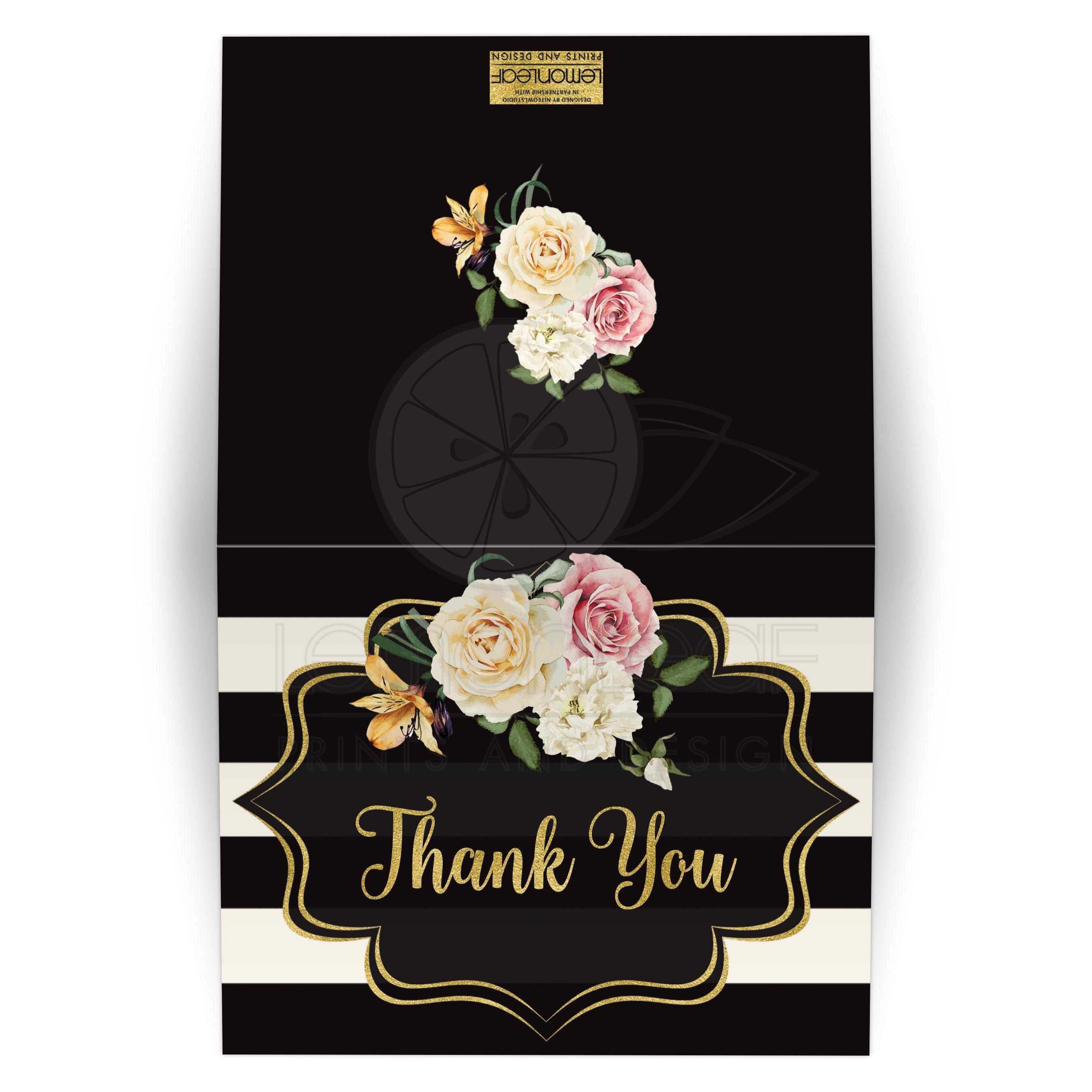 Thank you sign //// wedding prints //// gold foil //// gold wedding //// thank you ////