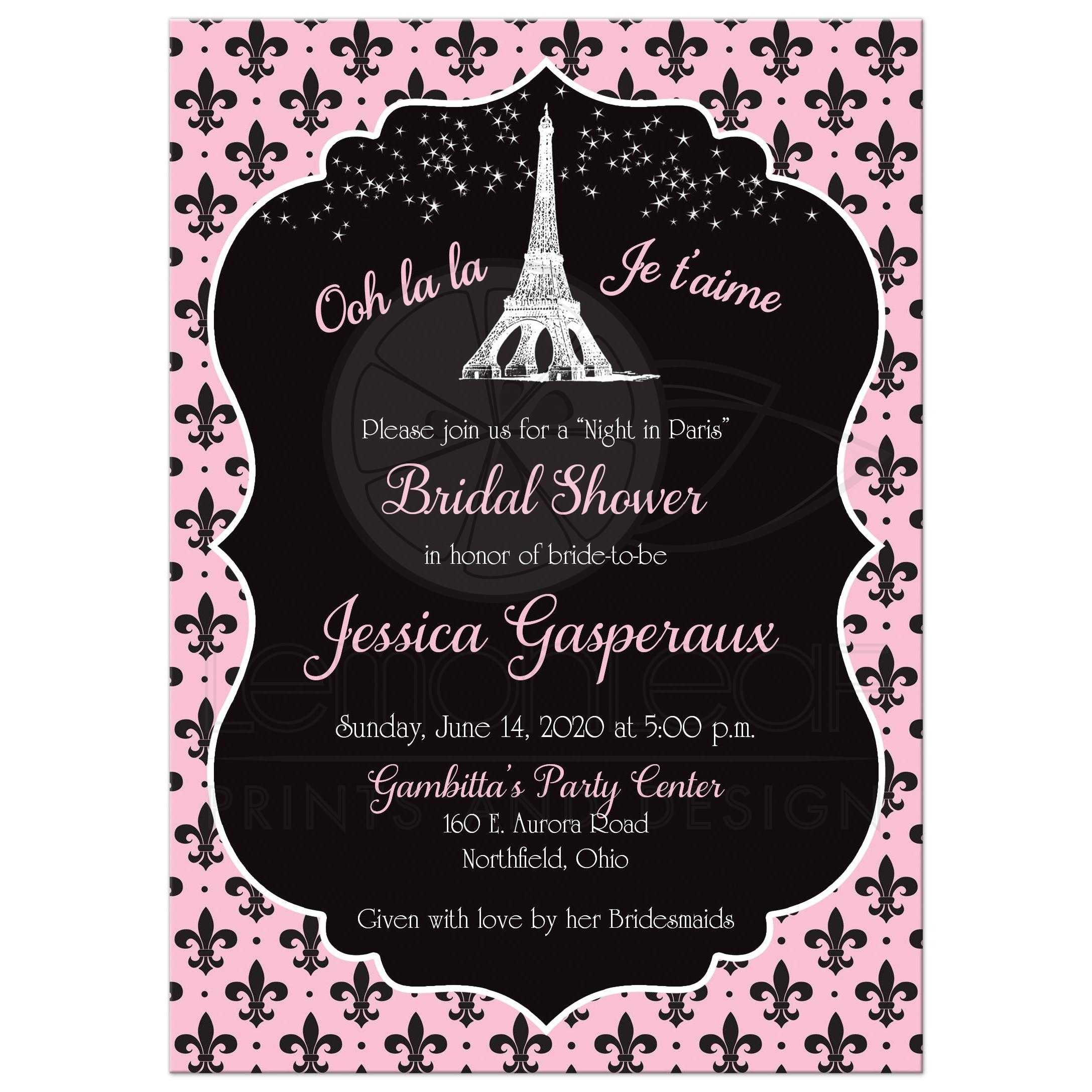 Paris Eiffel Tower Bridal Shower