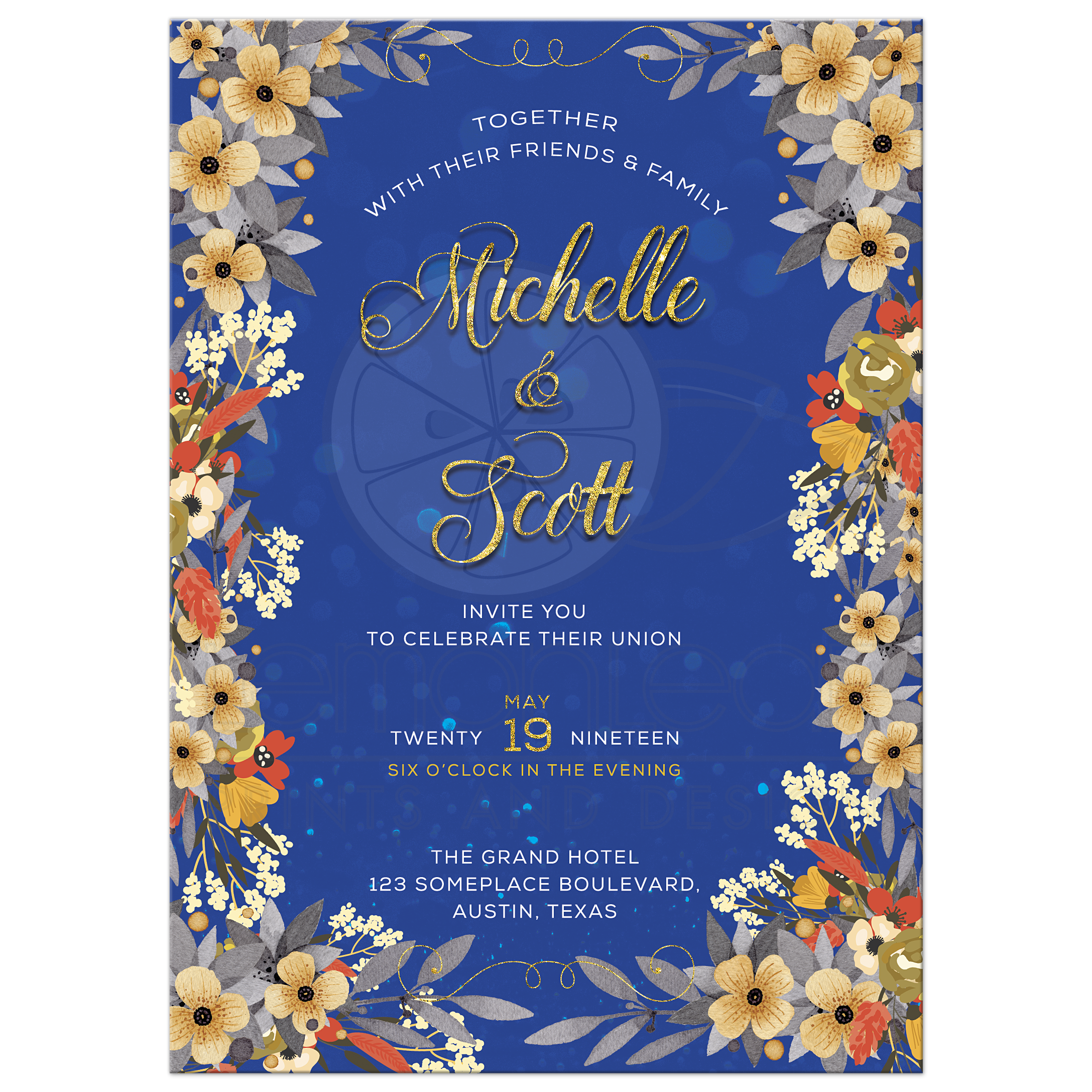 Bright Blue A7 Envelopes for 5 x 7 Invitations Announcements Weddings Shower