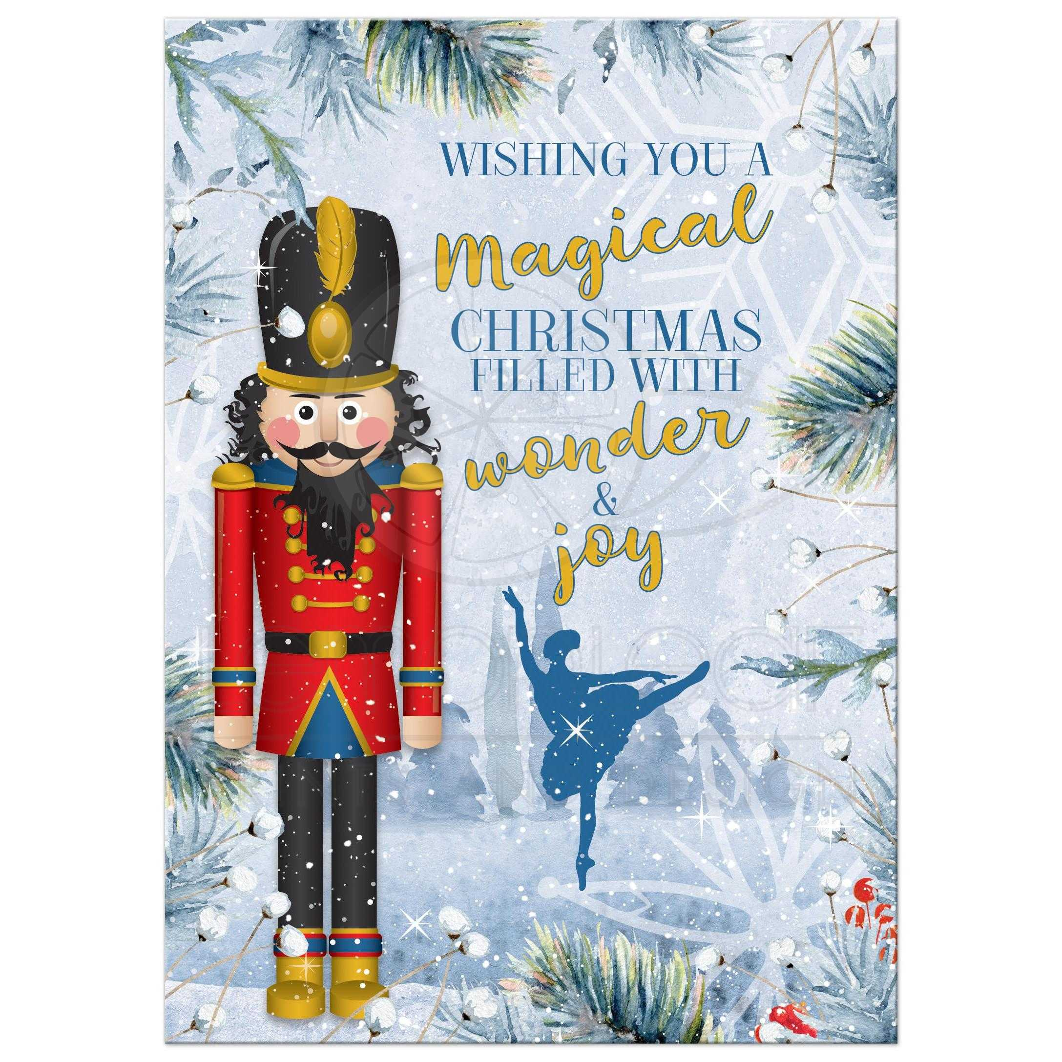 Nutcracker Christmas Photo Greeting Card | Photo on Back