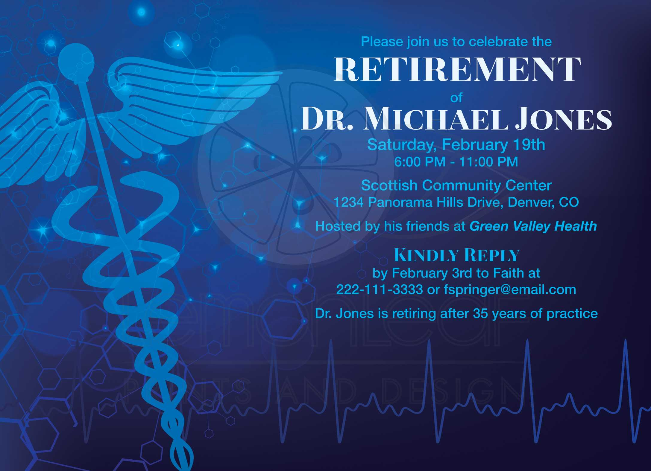 Medical Doctor Retirement Party