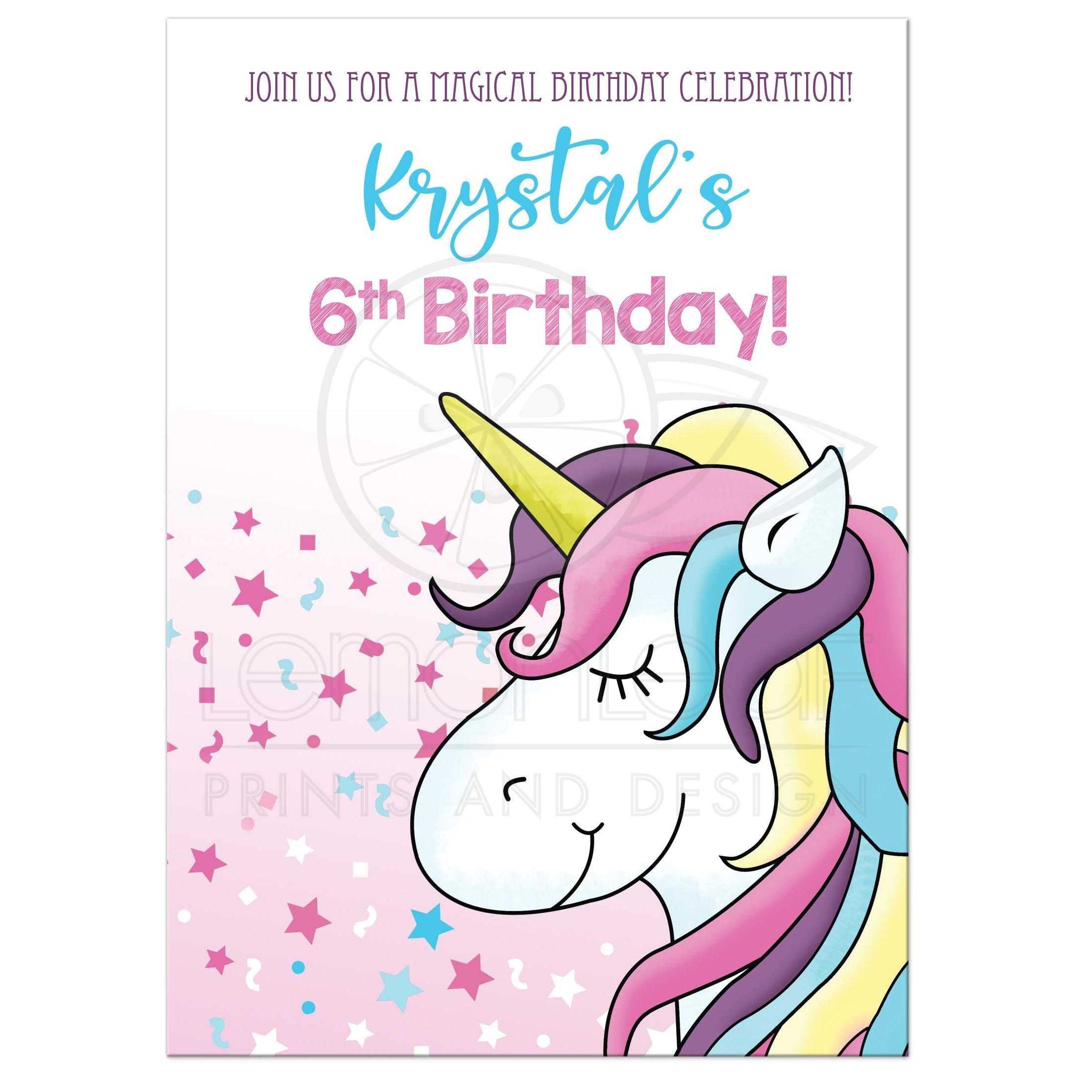 Superb Magical Unicorn Any Age Birthday Card Double Sided Funny Birthday Cards Online Fluifree Goldxyz