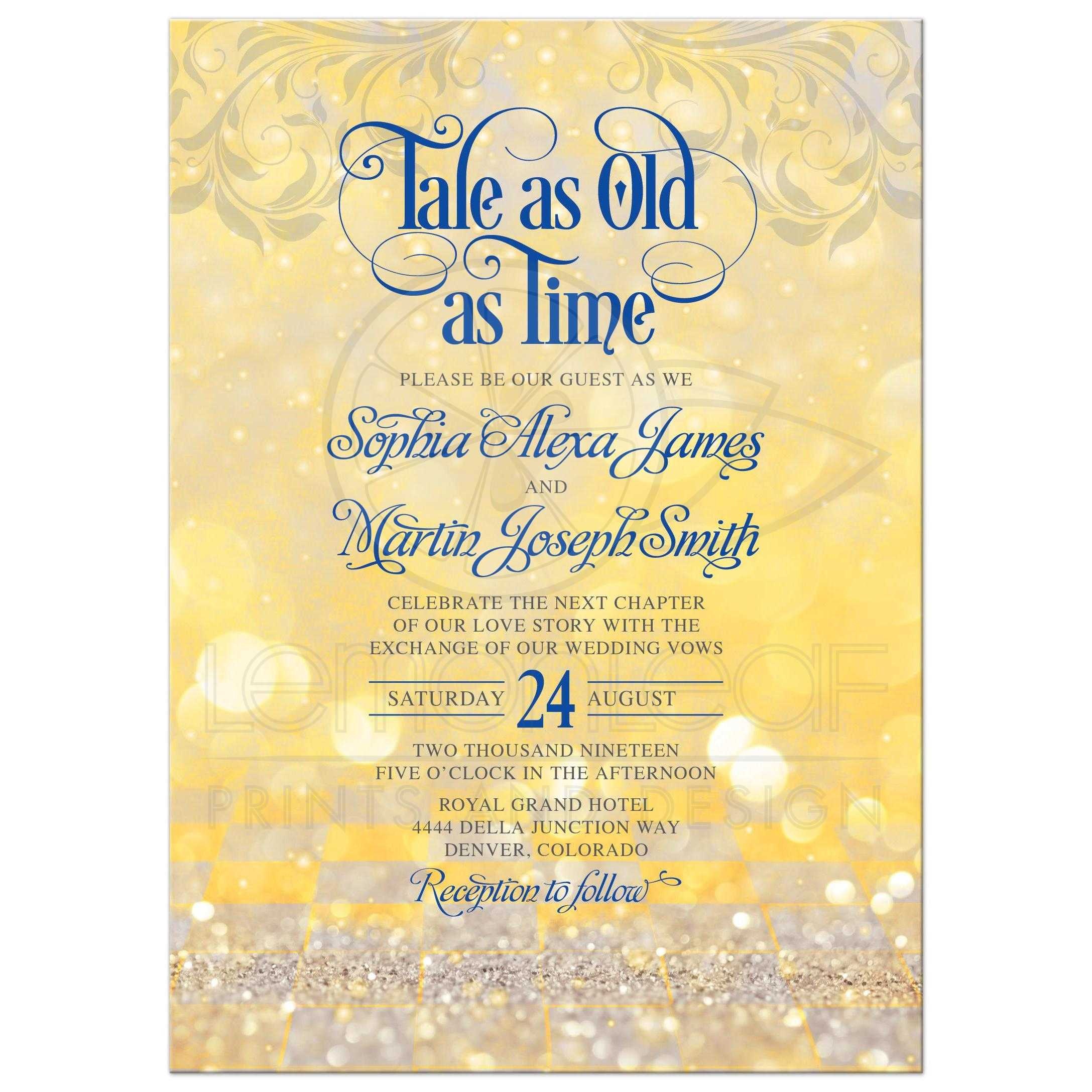 Real Fairytale Weddings Silver Spring Md: Fairytale Tale As Old As Time Wedding Invitation Royal
