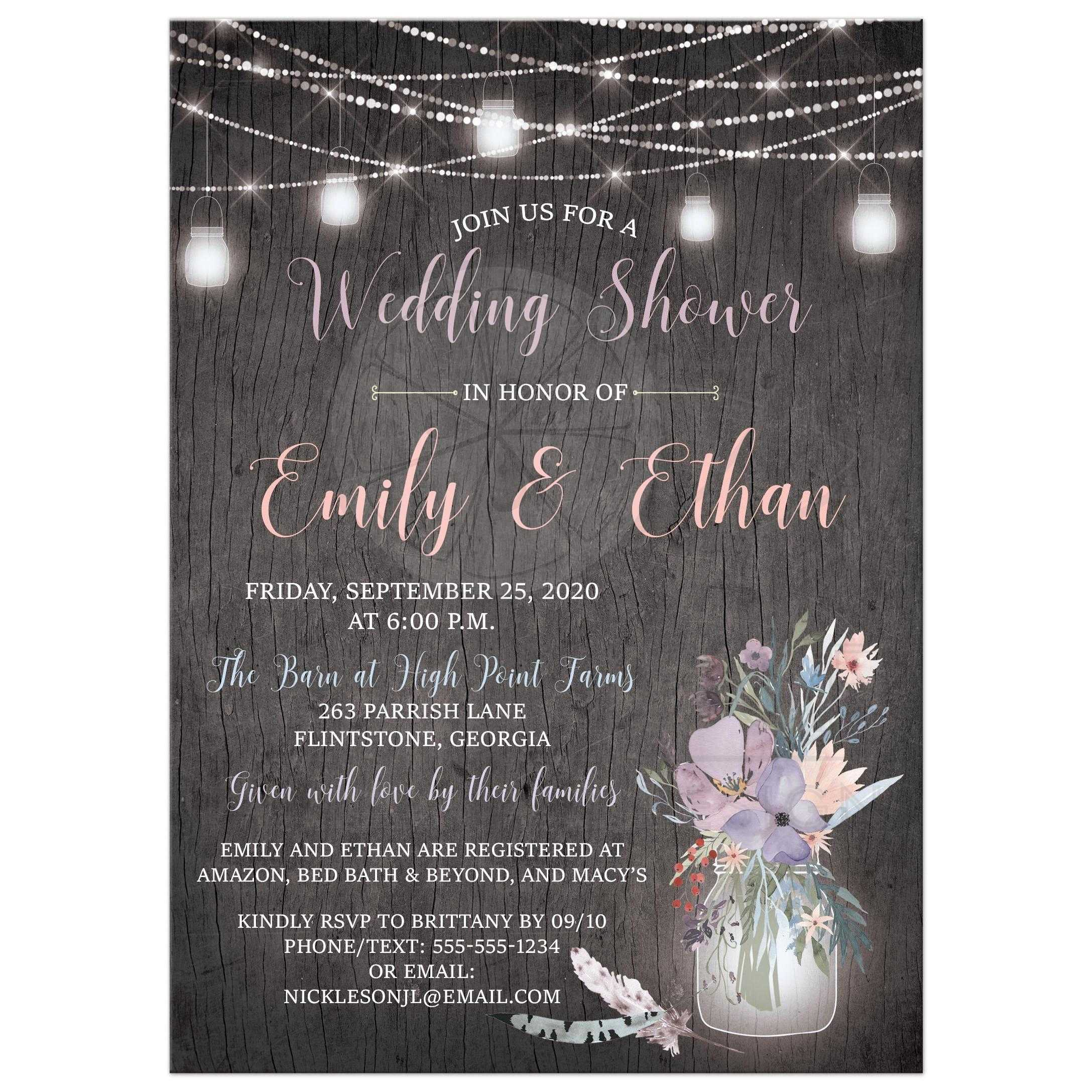 0607be1ca0e Rustic Wedding Shower Invitation