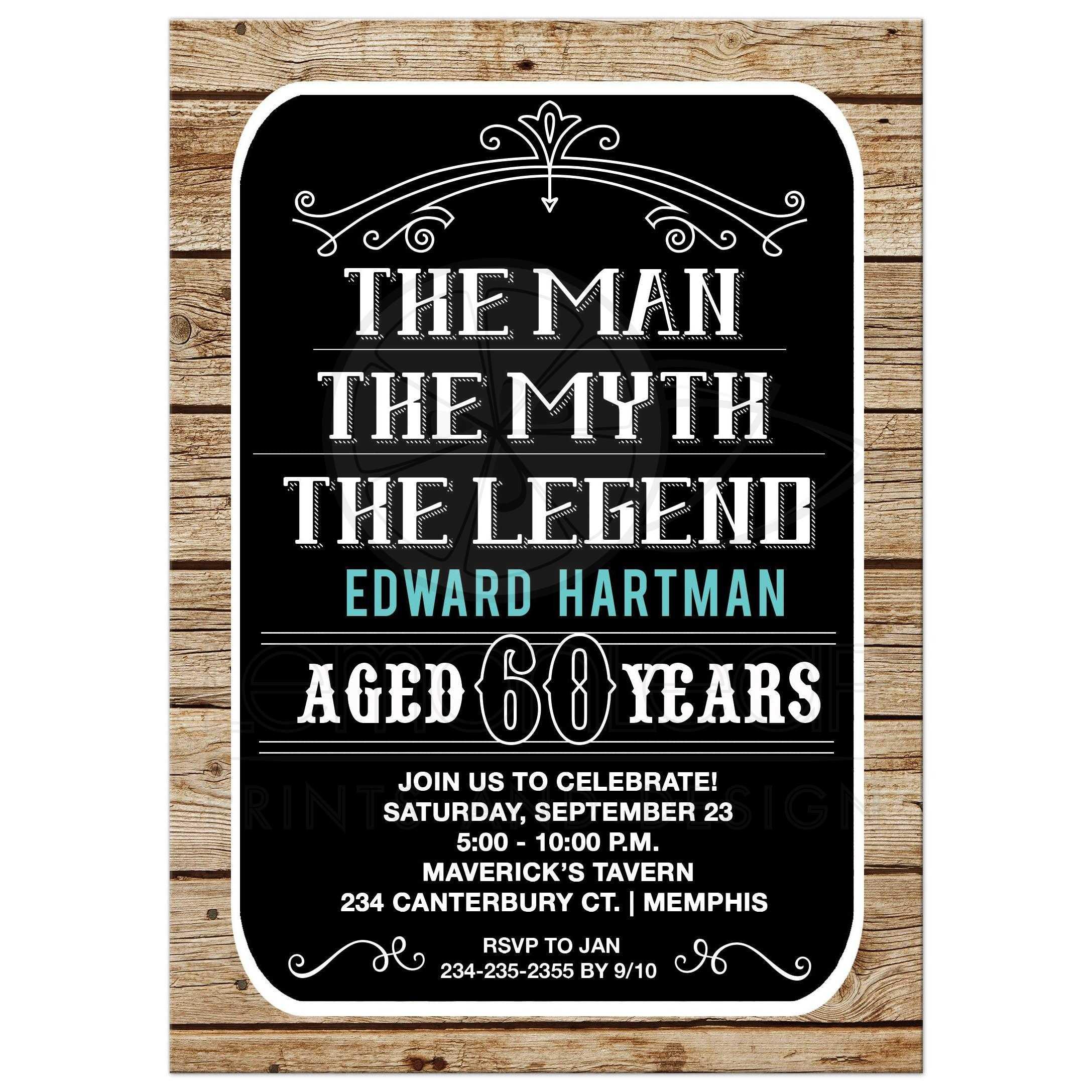 The Man Myth Legend Birthday Invitation Any Age