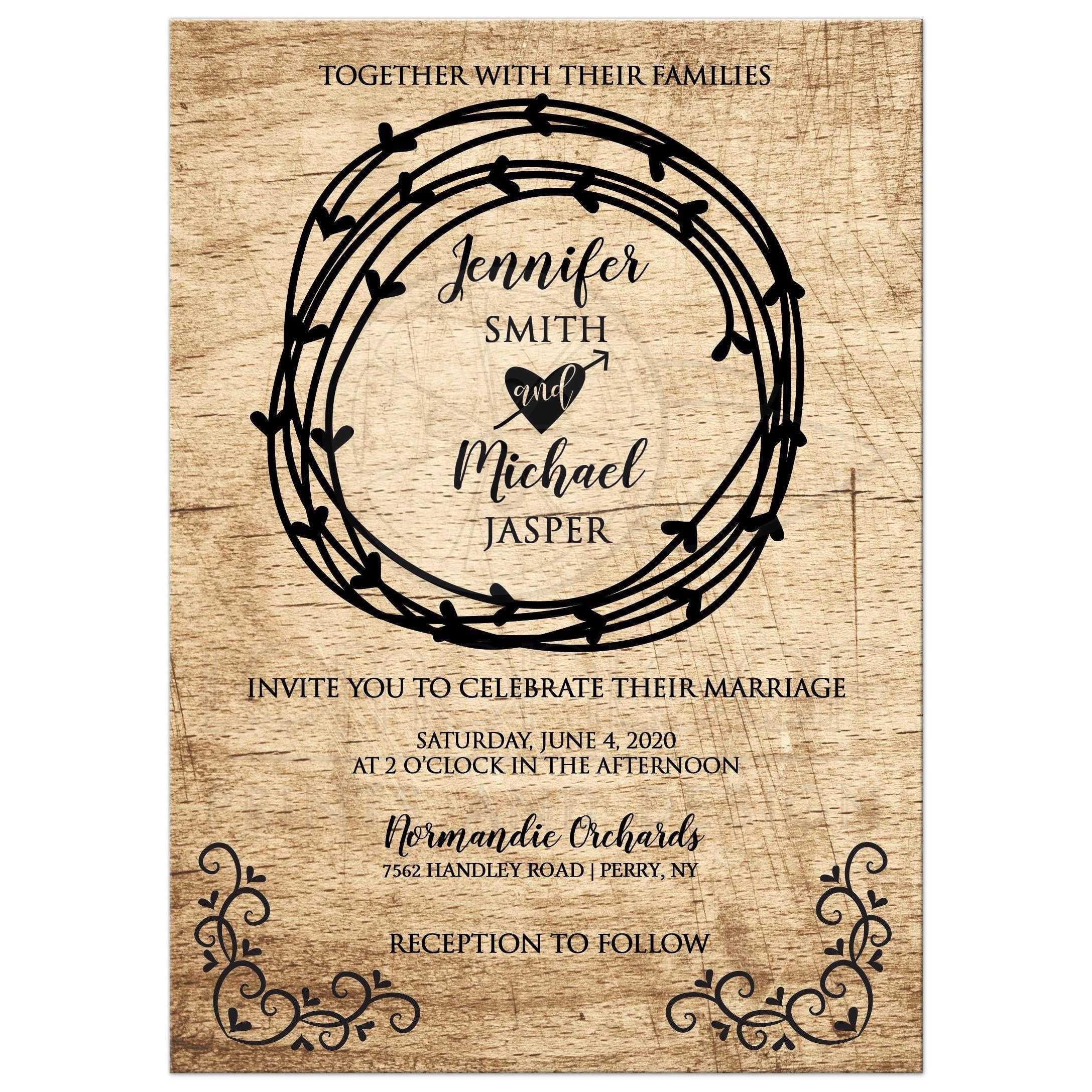 b0f76ac004e8b Rustic Heart Primative Western Wedding Invitation / Barn Wedding / Outdoor  Wedding
