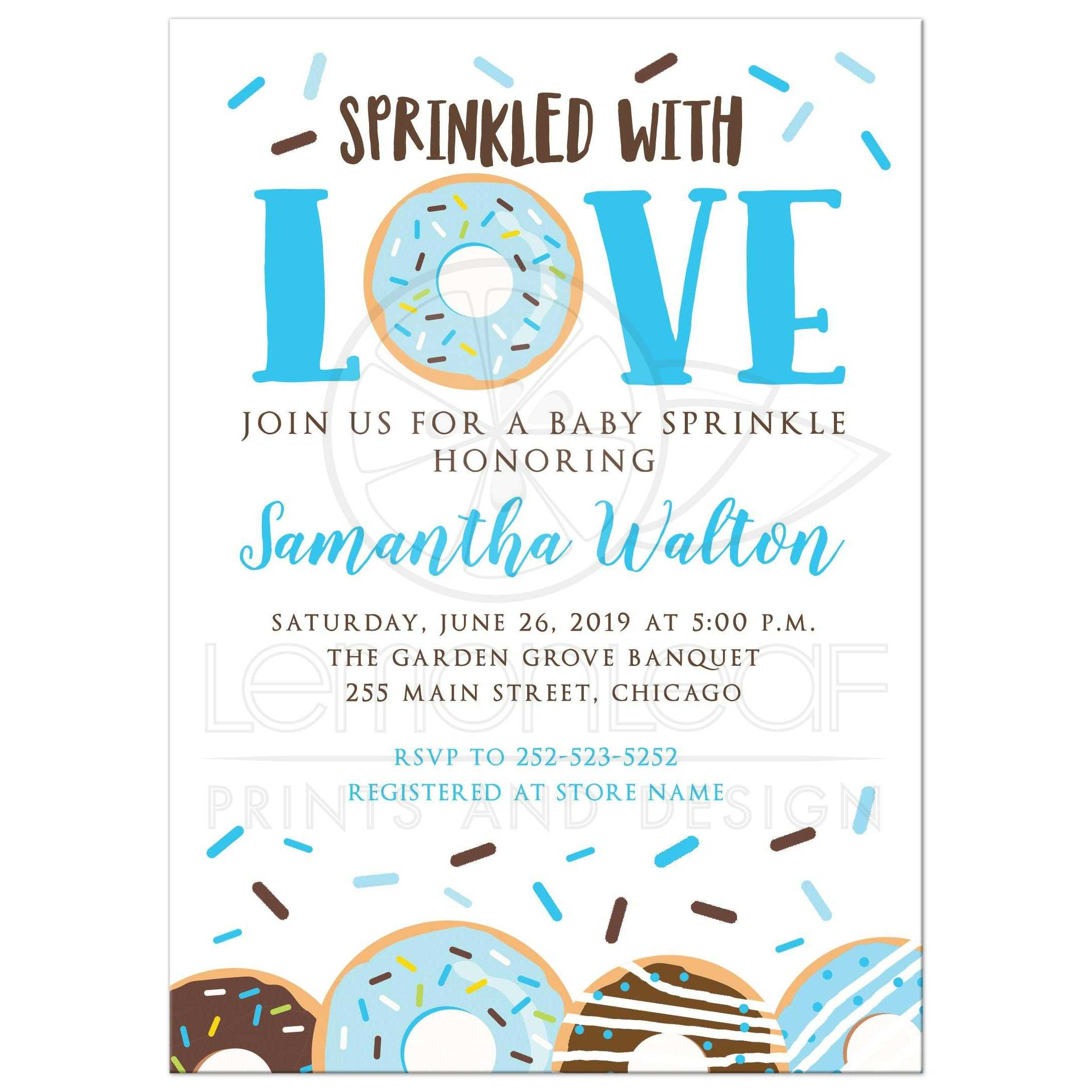 Donut Boy Baby Shower Sprinkle Invitation