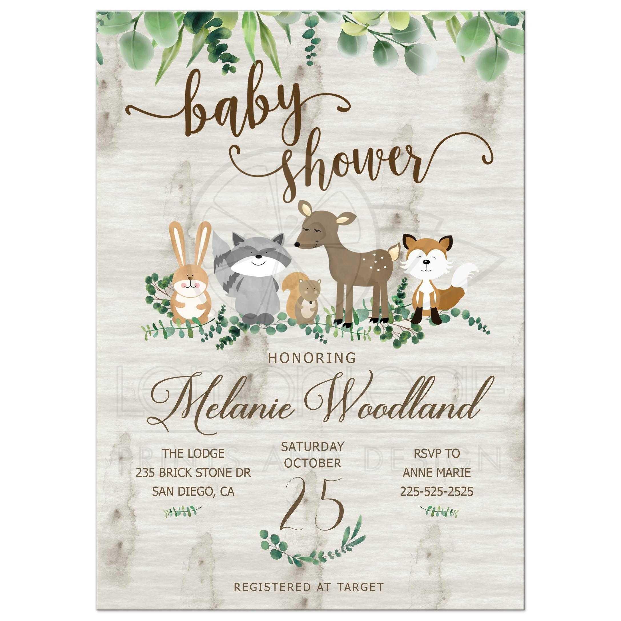 Greenery Baby Shower Invitation