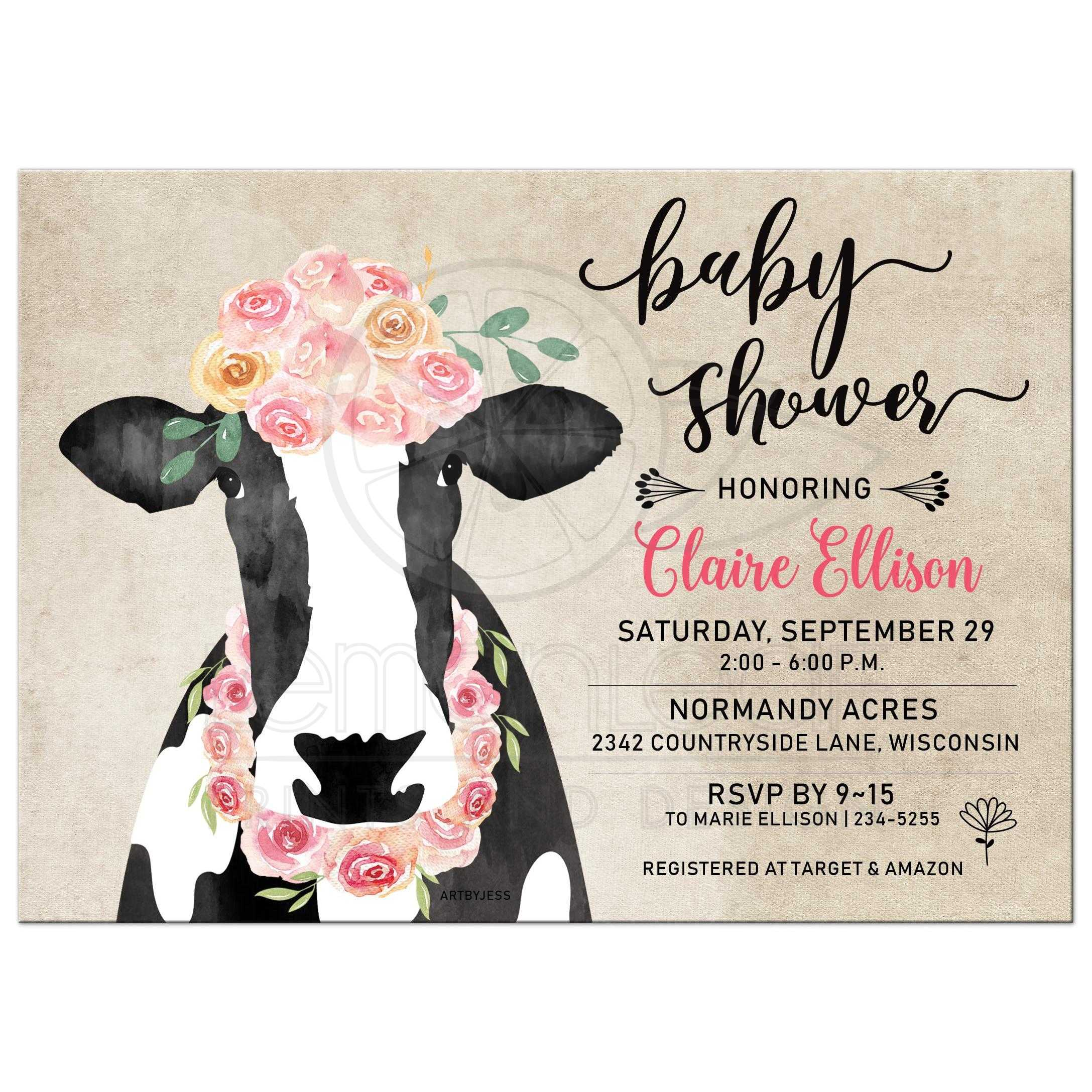 50 Fill in Floral Baby Shower Invitations P Baby Shower Invitations Watercolor