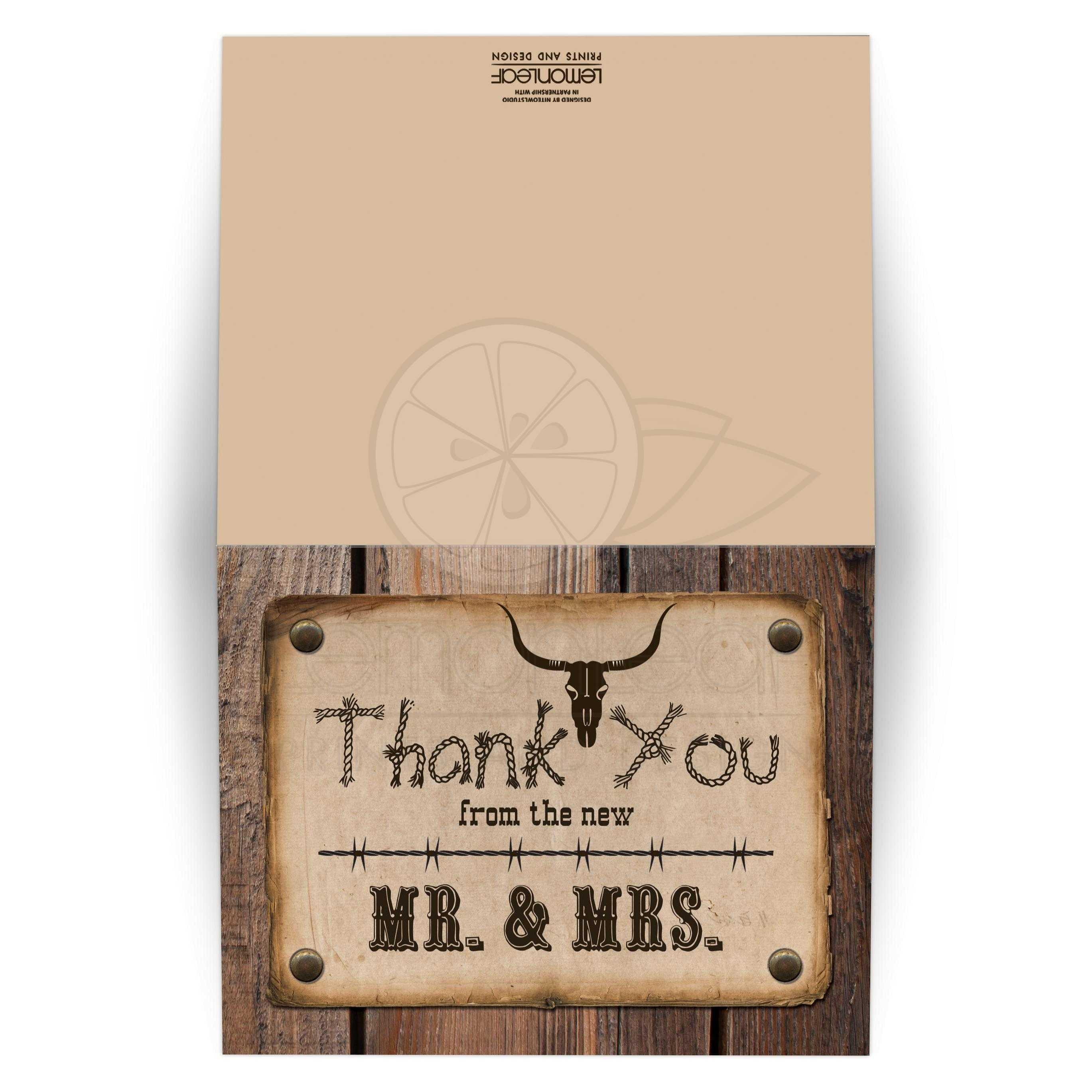 Rustic Mr Mrs Western Theme Wedding